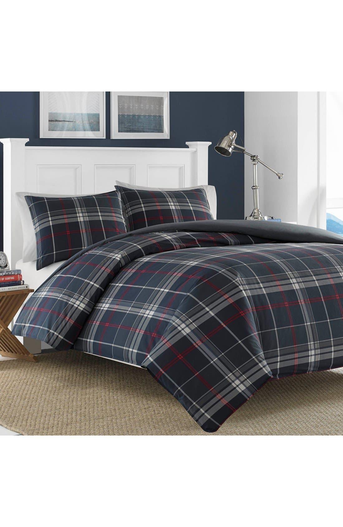 Booker Cotton Comforter & Sham Set,                         Main,                         color, Charcoal