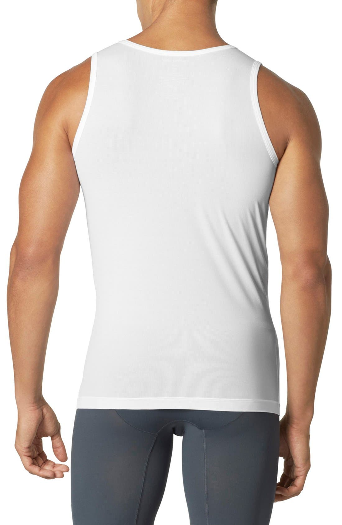 'Air' Tank Undershirt,                             Alternate thumbnail 2, color,                             White