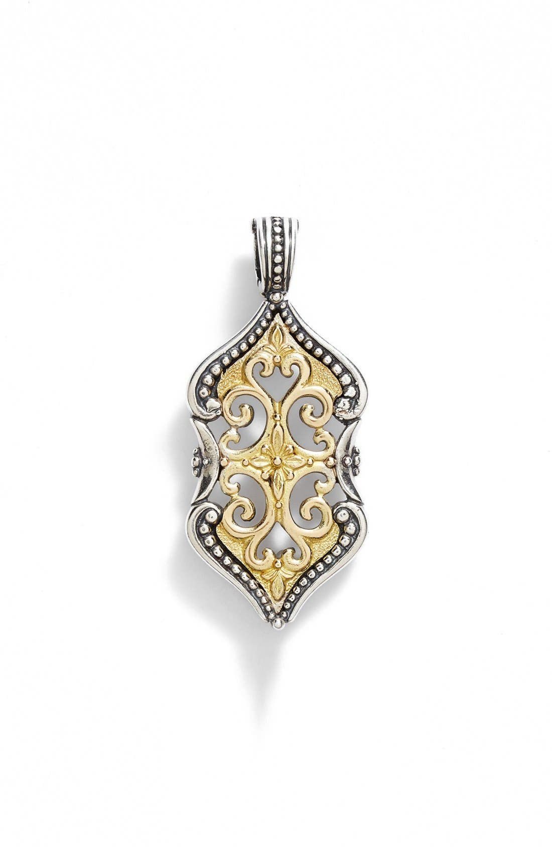 'Hebe' Openwork Carved Pendant,                         Main,                         color, Silver/ Gold