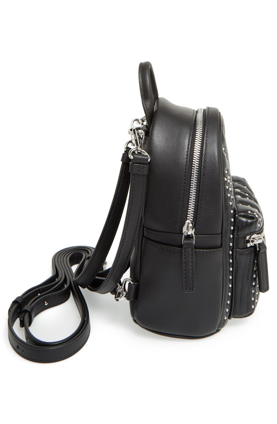 Alternate Image 5  - MCM 'X Mini Diamond Disco' Leather Backpack