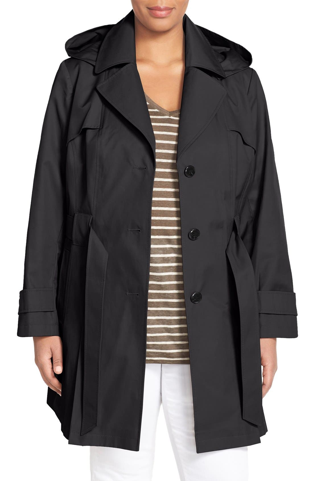Main Image - Via Spiga 'Scarpa' Single Breasted Trench Coat (Plus Size)