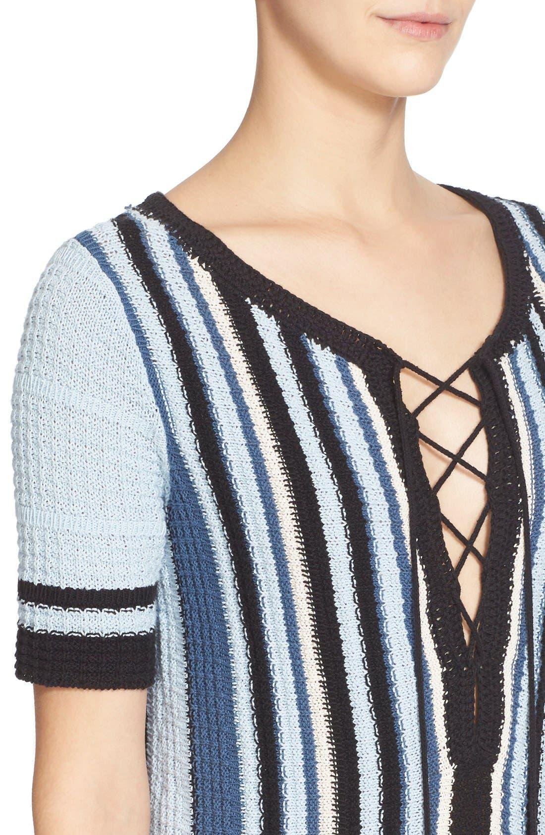 Alternate Image 4  - Free People 'Lollipop' Cotton Sweater Dress