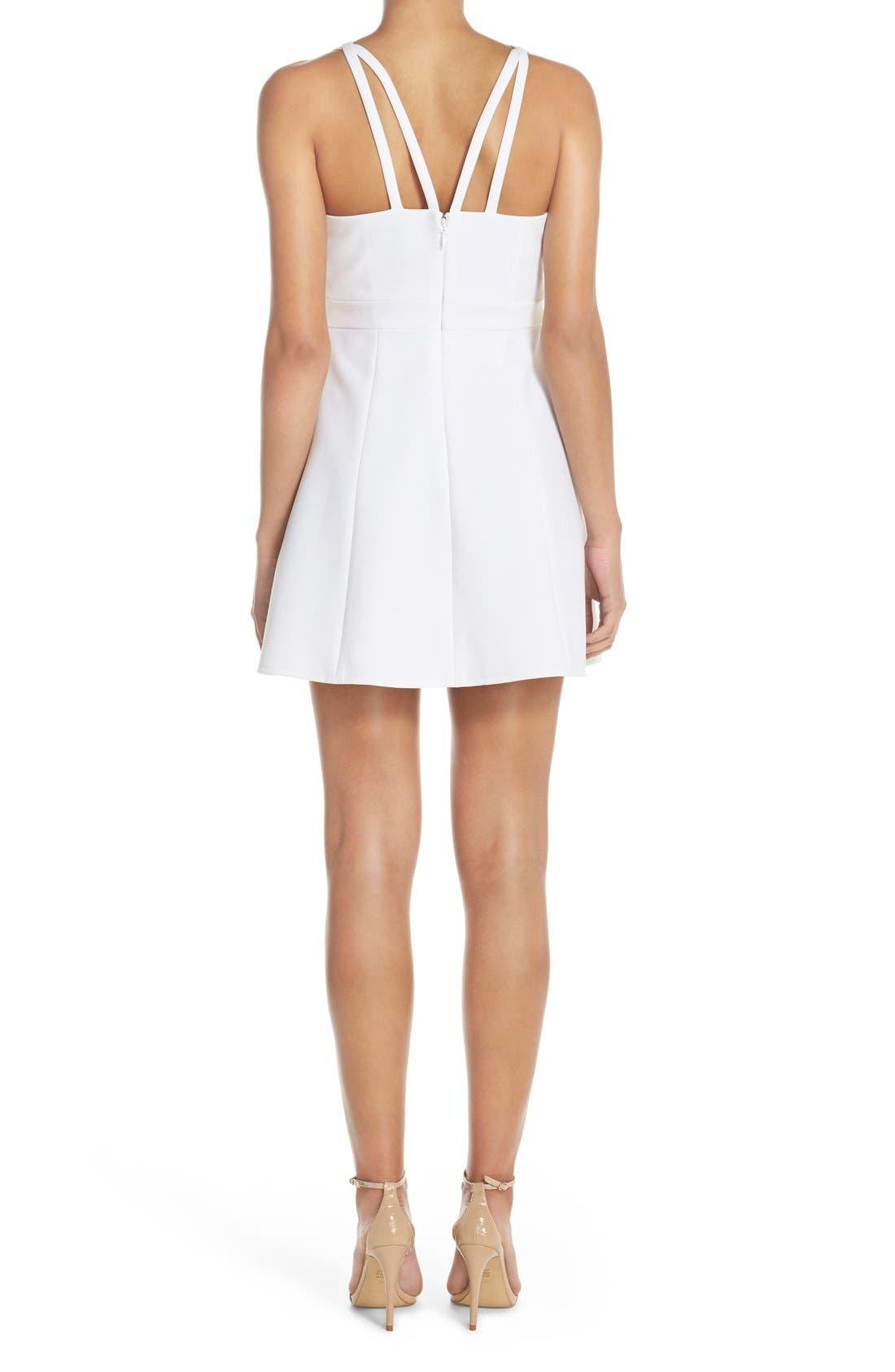 Alternate Image 2  - BCBGMAXAZRIA 'Charlot' Cutout Crepe Fit & Flare Dress