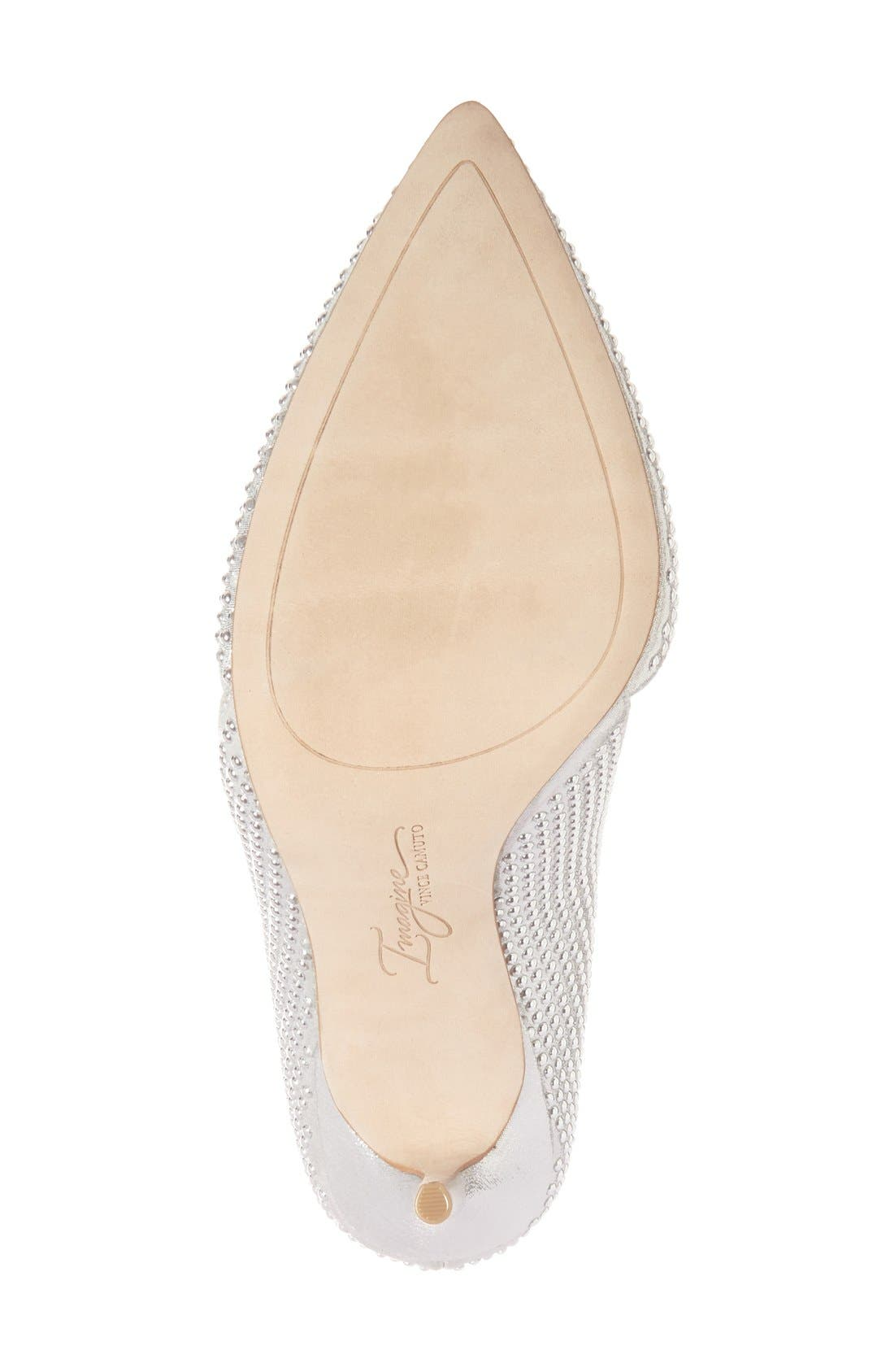 Imagine Vince Camuto 'Ossie' d'Orsay Pump,                             Alternate thumbnail 4, color,                             Platinum Shimmer