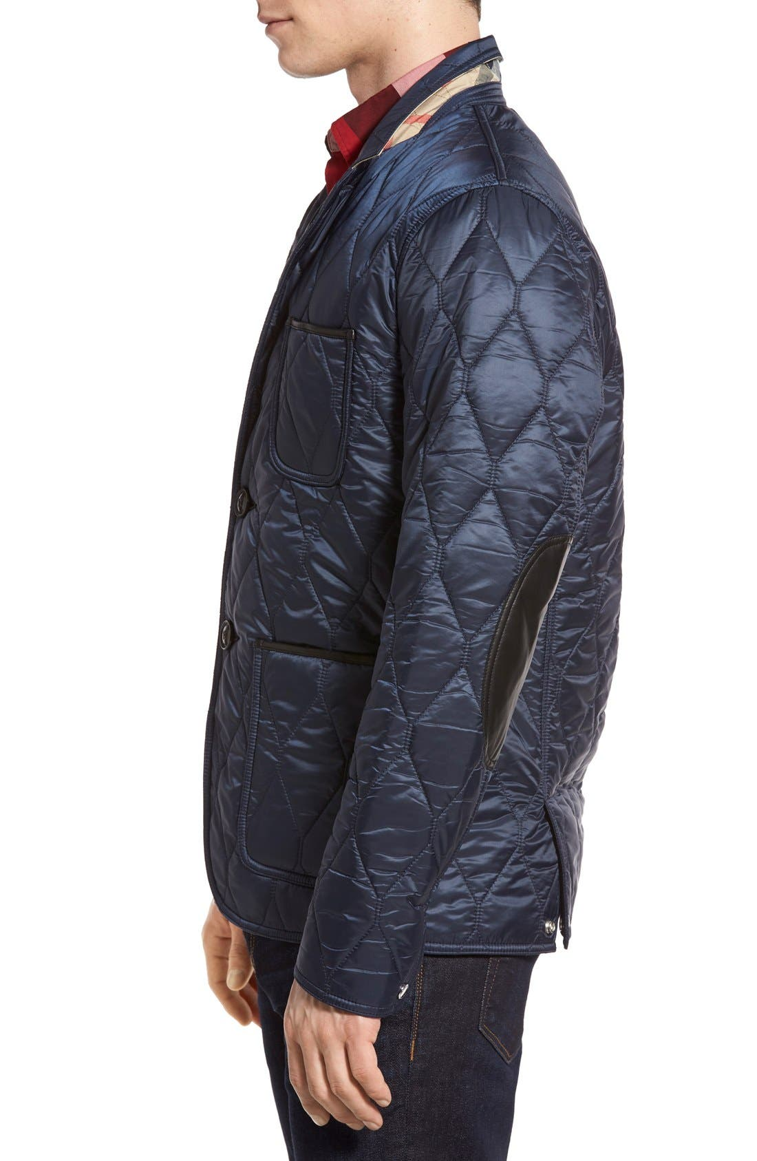 Alternate Image 3  - Burberry Gillington Water Resistant Quilted Jacket