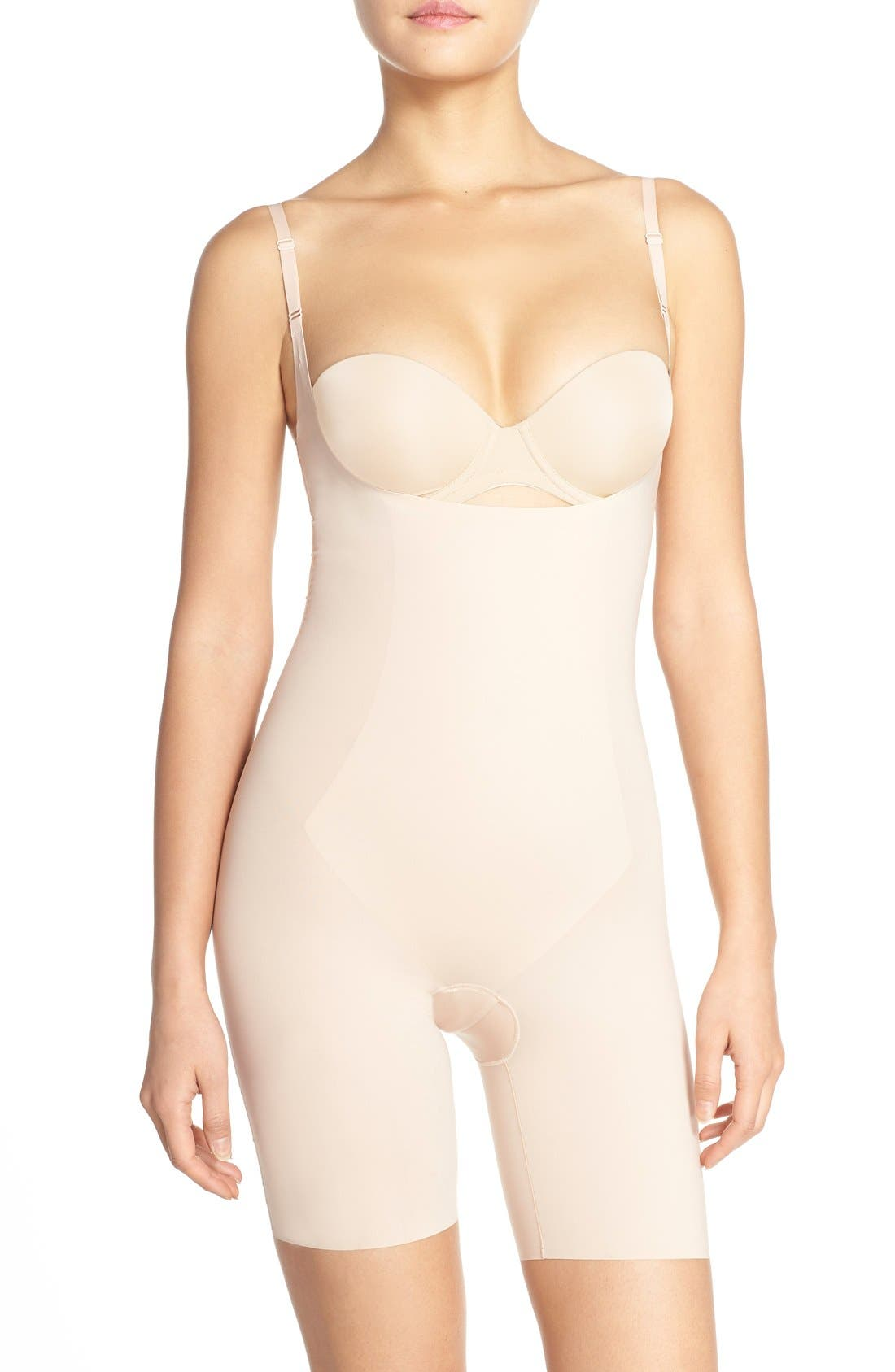 SPANX® Thinstincts Open Bust Mid Thigh Bodysuit
