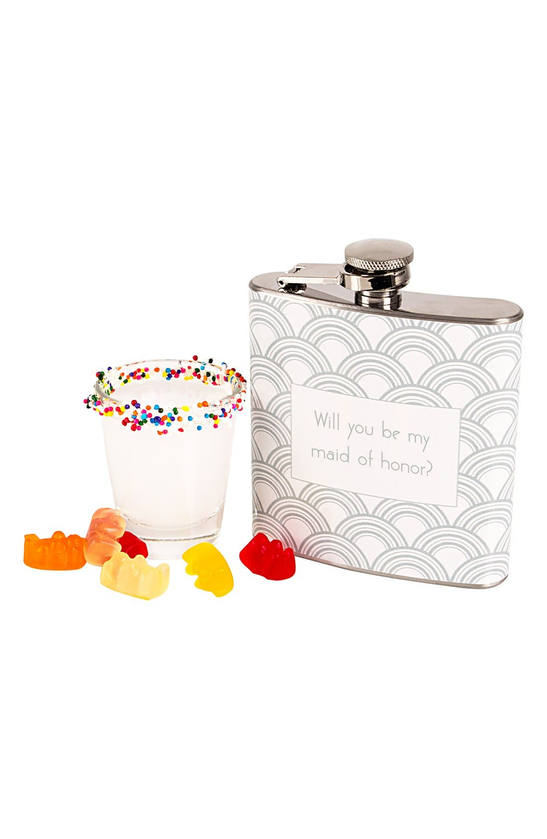 Alternate Image 3  - Cathy's Concepts 'Will You Be My Maid of Honor?' Print Flask