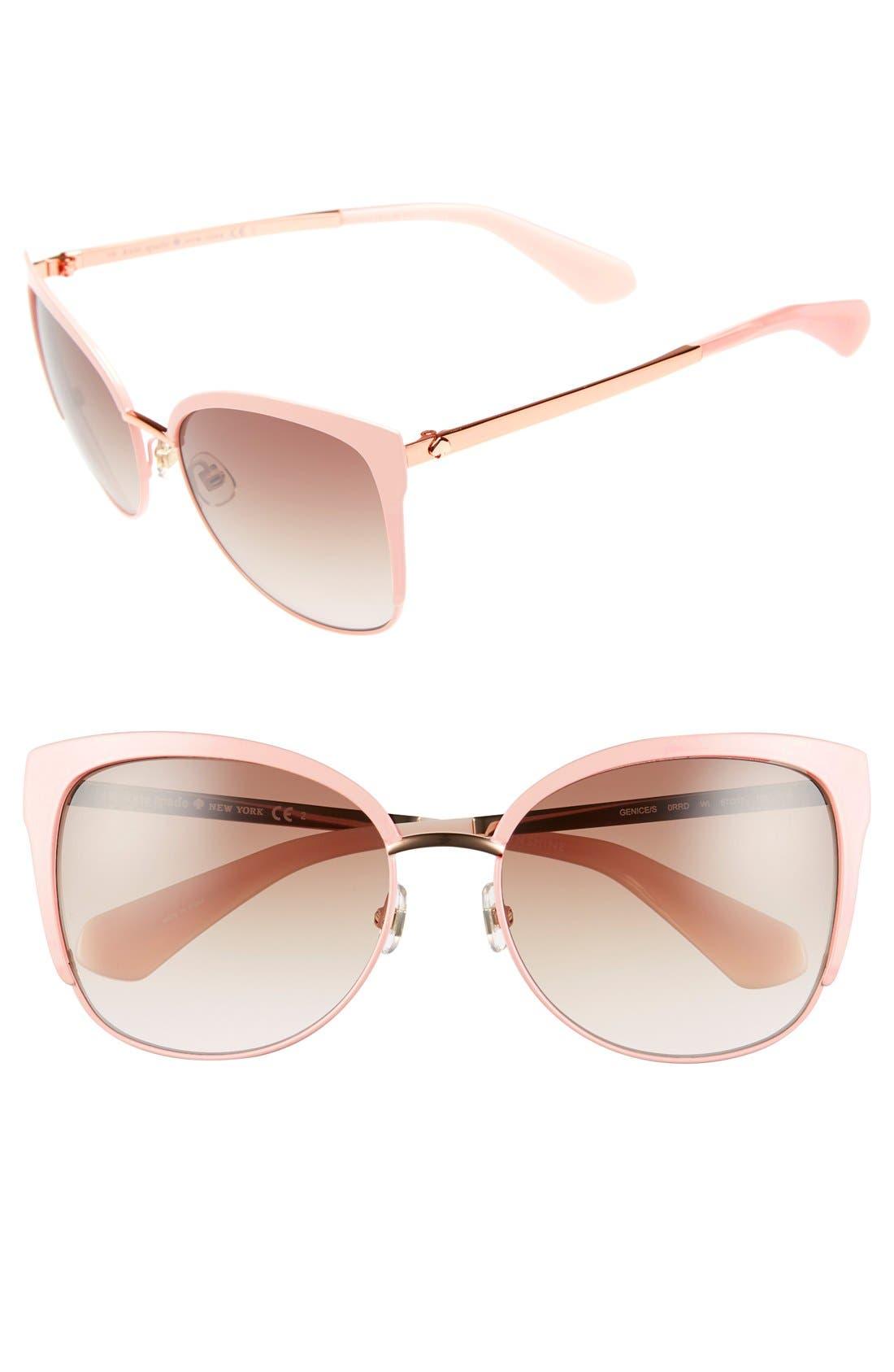 kate spade new york 'genice' 57mm cat-eye sunglasses