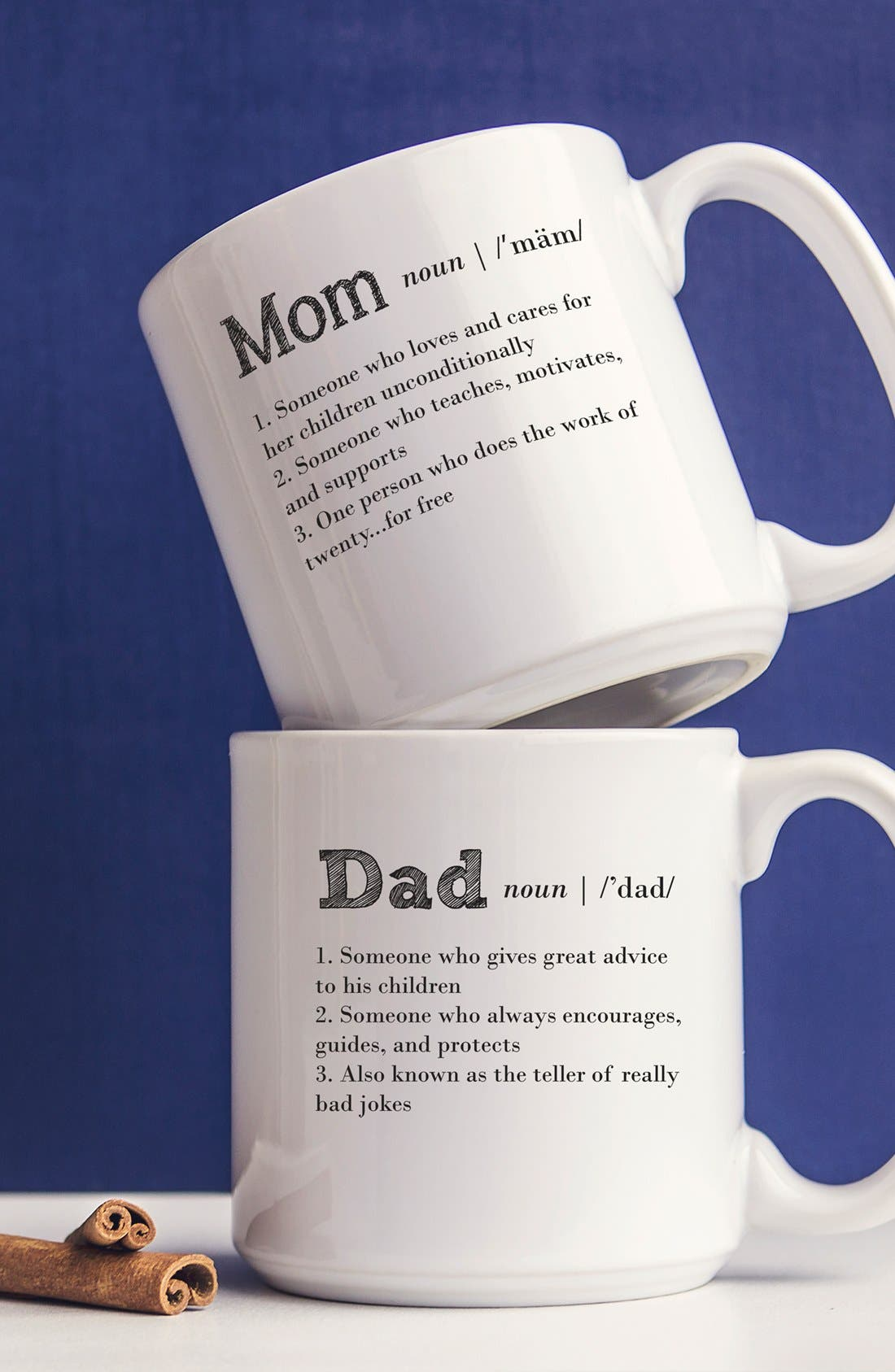 Alternate Image 1 Selected - Cathy's Concepts 'Mom & Dad' Coffee Mugs (Set of 2)