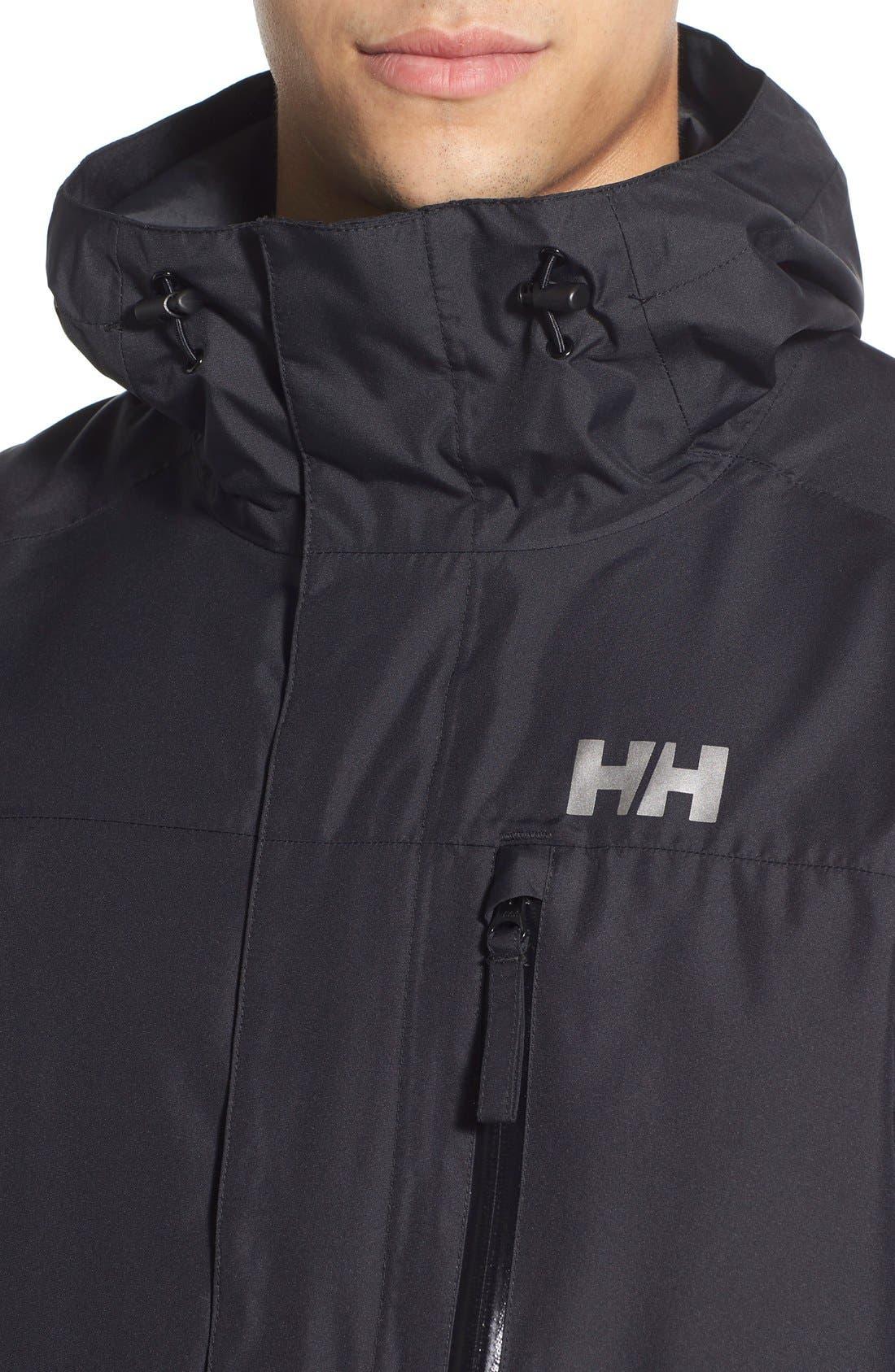 'Vancouver' Packable Rain Jacket,                             Alternate thumbnail 4, color,                             Black