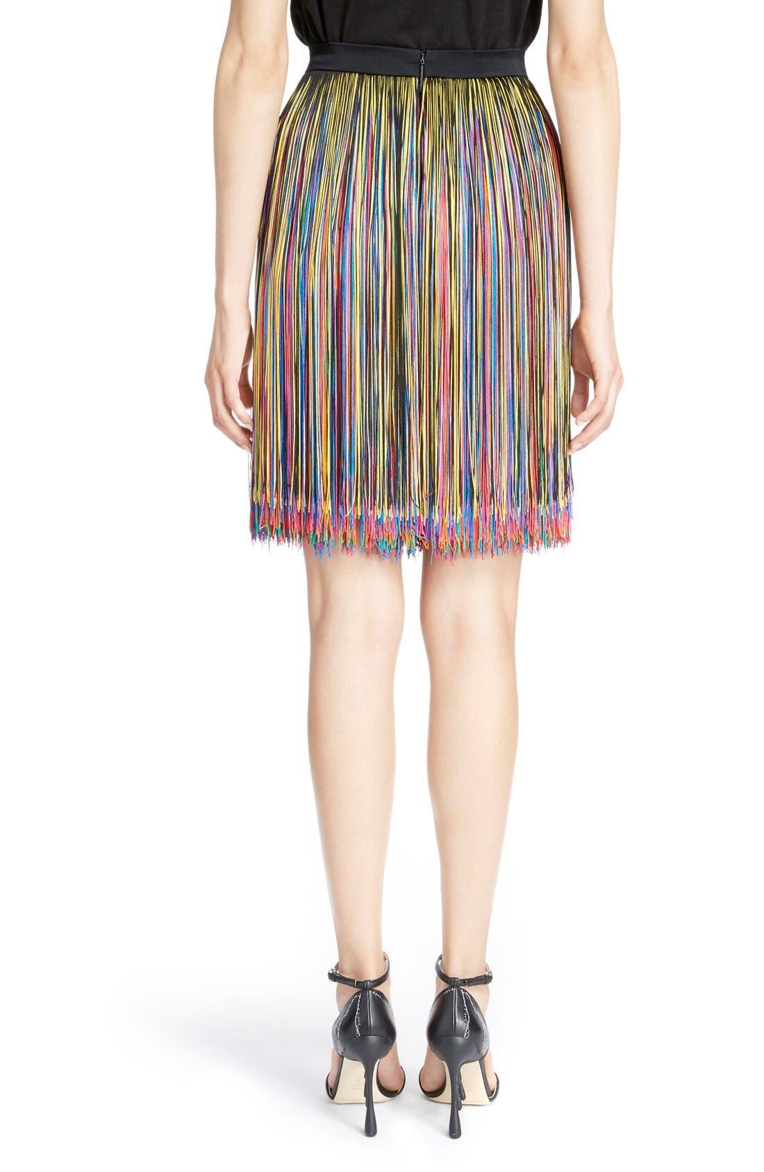 Alternate Image 2  - Christopher Kane Rainbow Fringe Skirt
