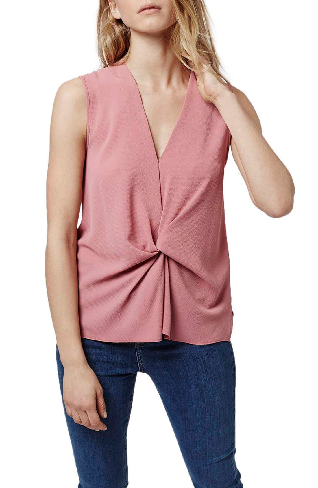 Alternate Image 1 Selected - Topshop Tucked Sleeveless Blouse