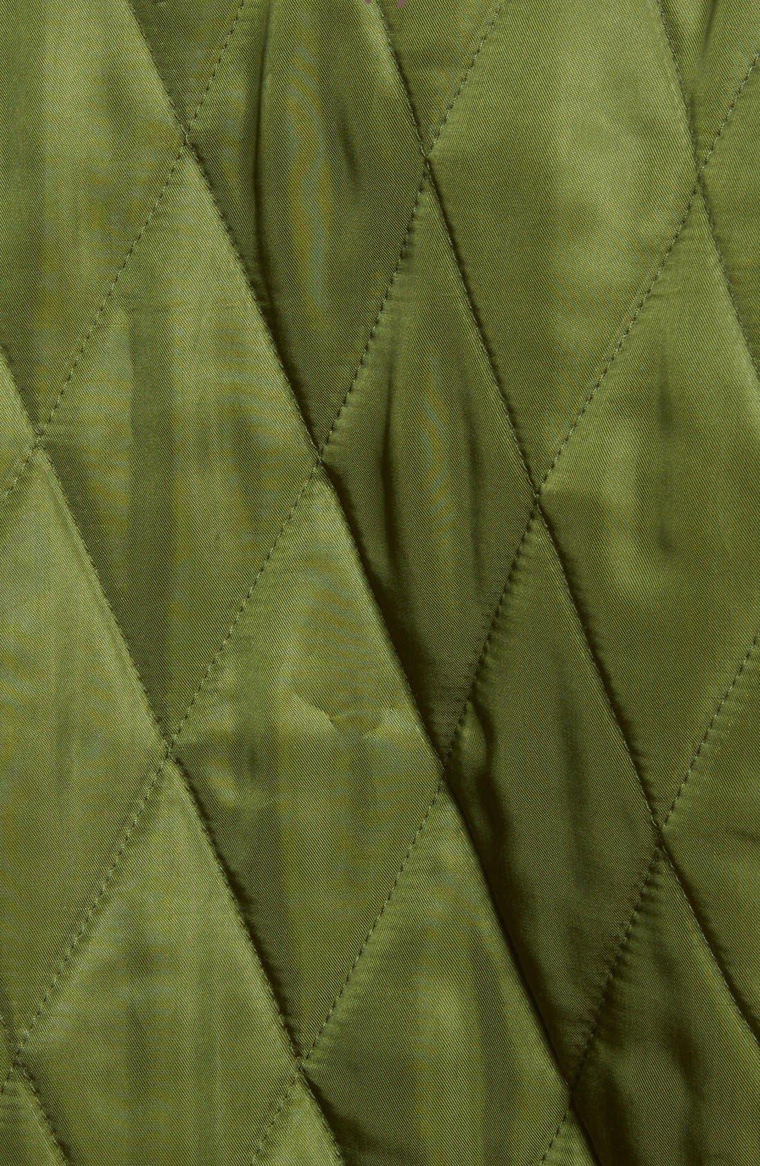 Reversible Embroidered Tech Satin Bomber Jacket,                             Alternate thumbnail 4, color,                             Deep Green