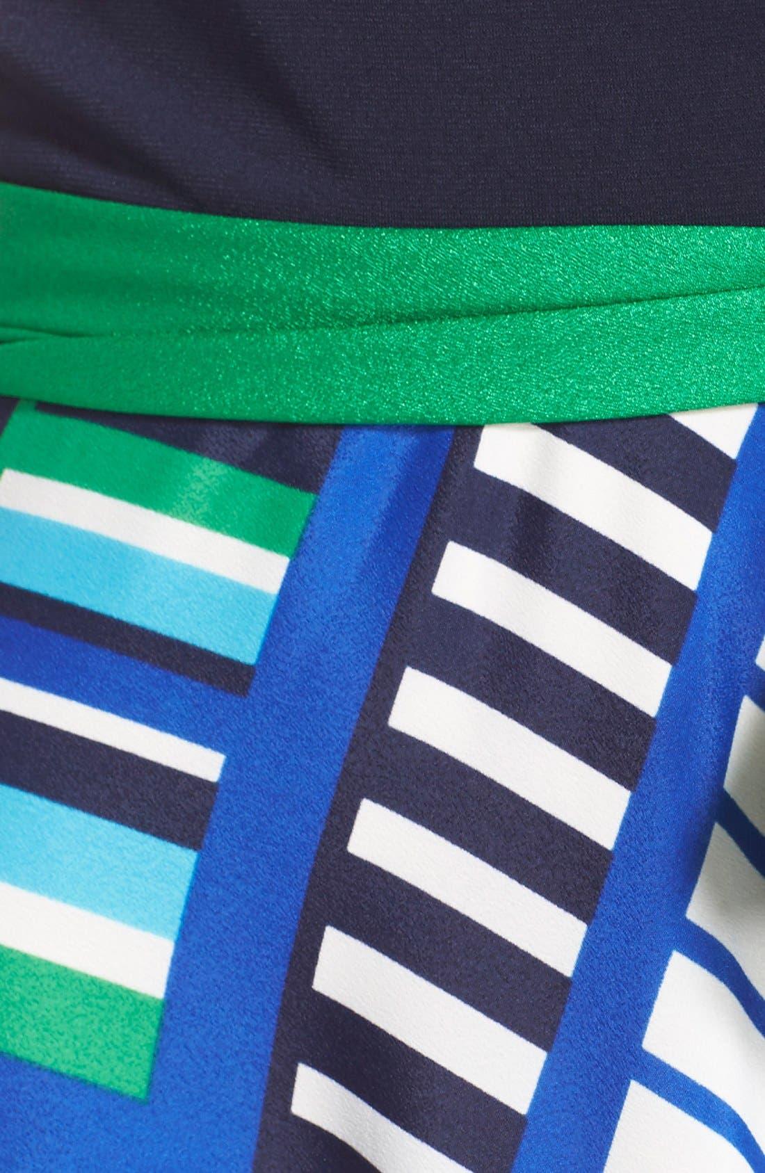 Alternate Image 5  - Eliza J Scarf Print Jersey & Crêpe de Chine Maxi Dress (Regular & Petite)