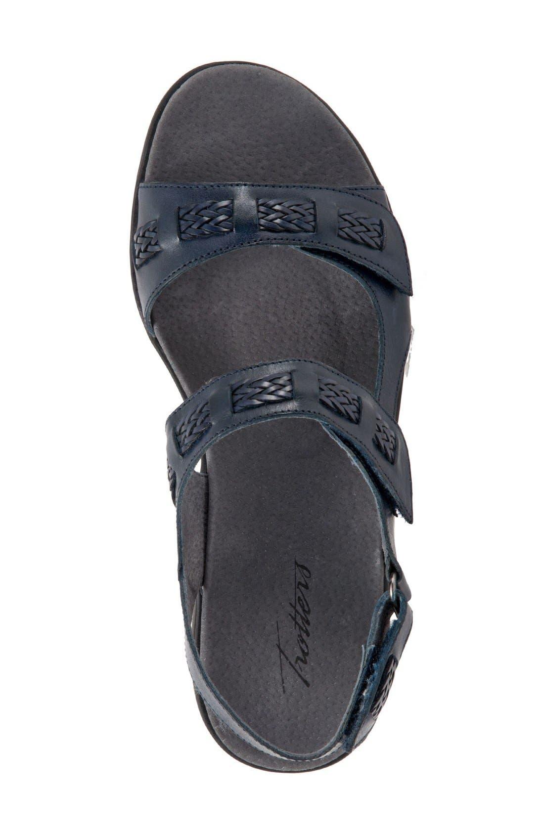 'Kip' Sandal,                             Alternate thumbnail 3, color,                             Navy Leather