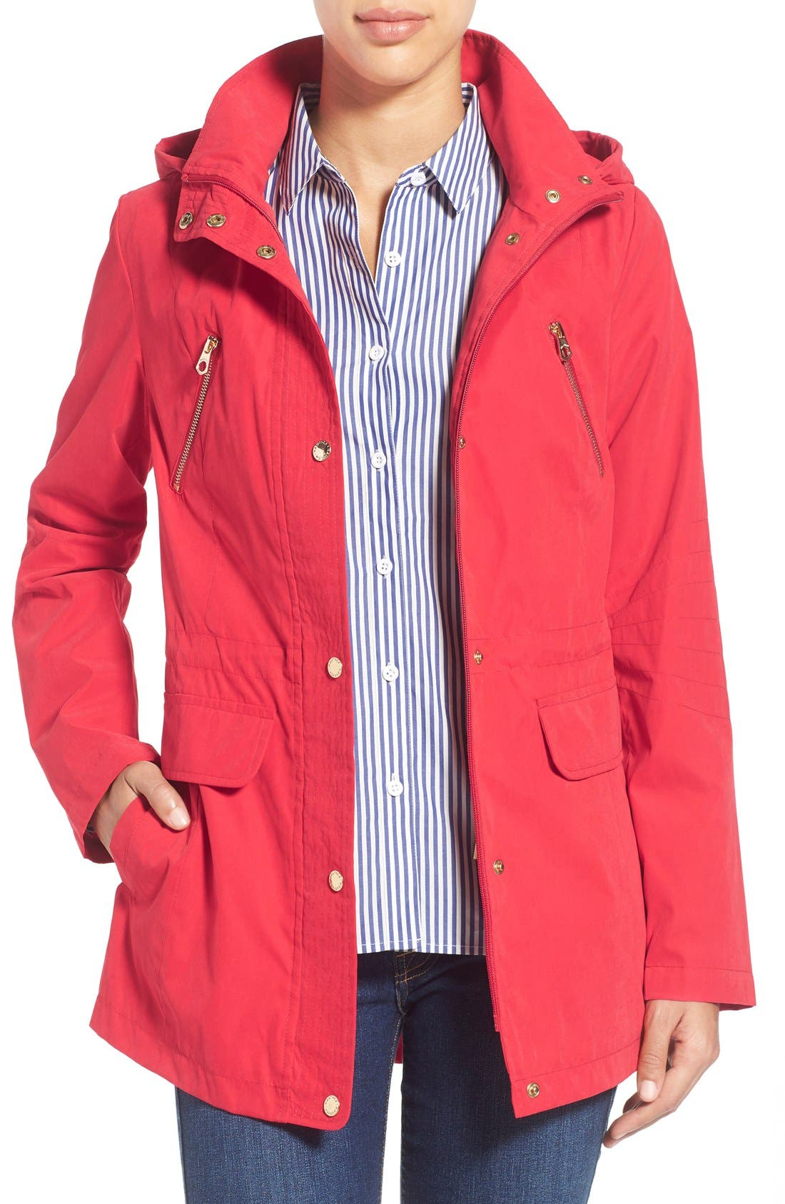 Alternate Image 1 Selected - Nautica Microfiber Drawstring Utility Anorak