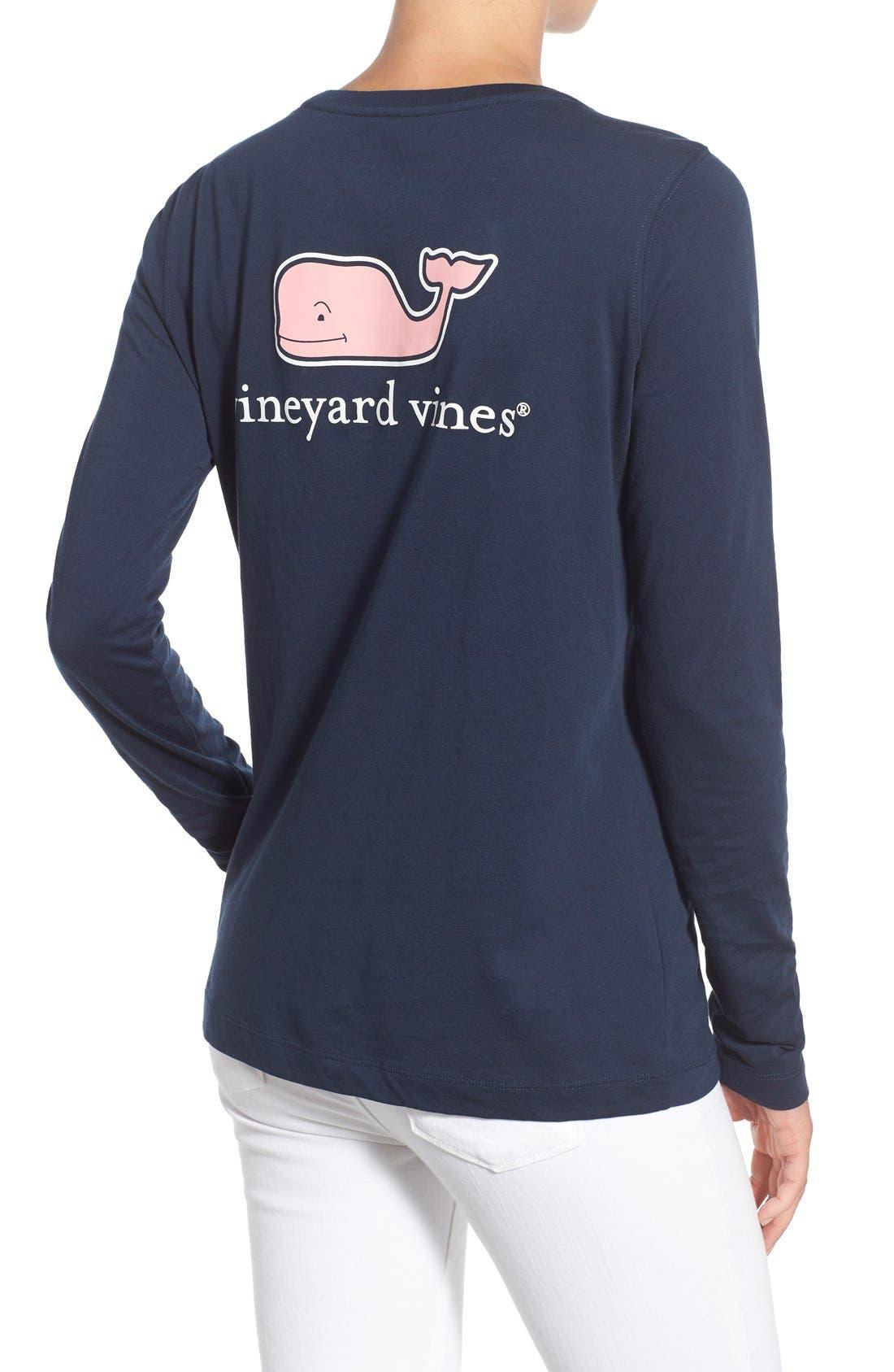 Alternate Image 2  - Vineyard Vines Long Sleeve Logo Tee