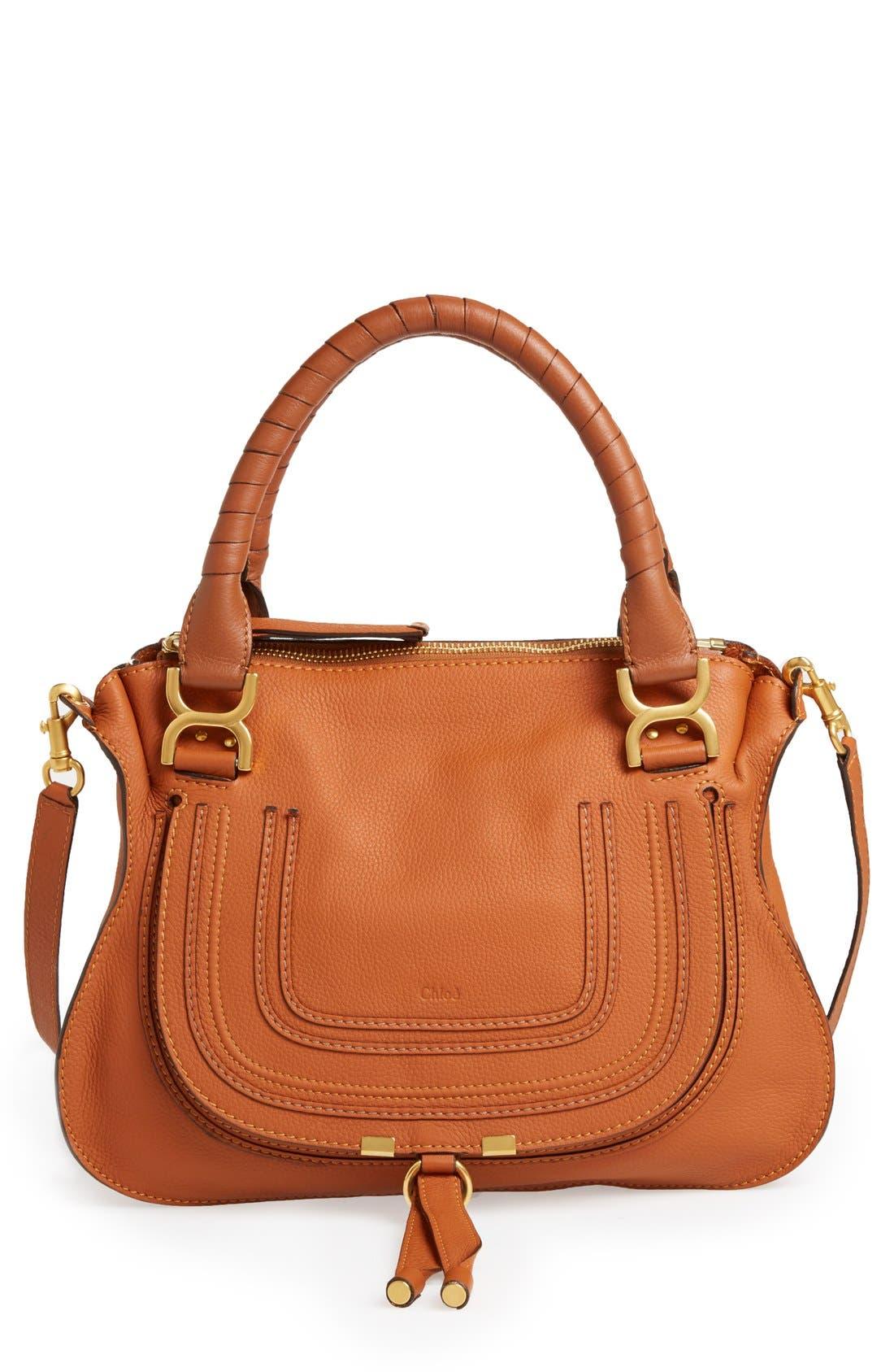 Alternate Image 1 Selected - Chloé 'Medium Marcie' Leather Satchel
