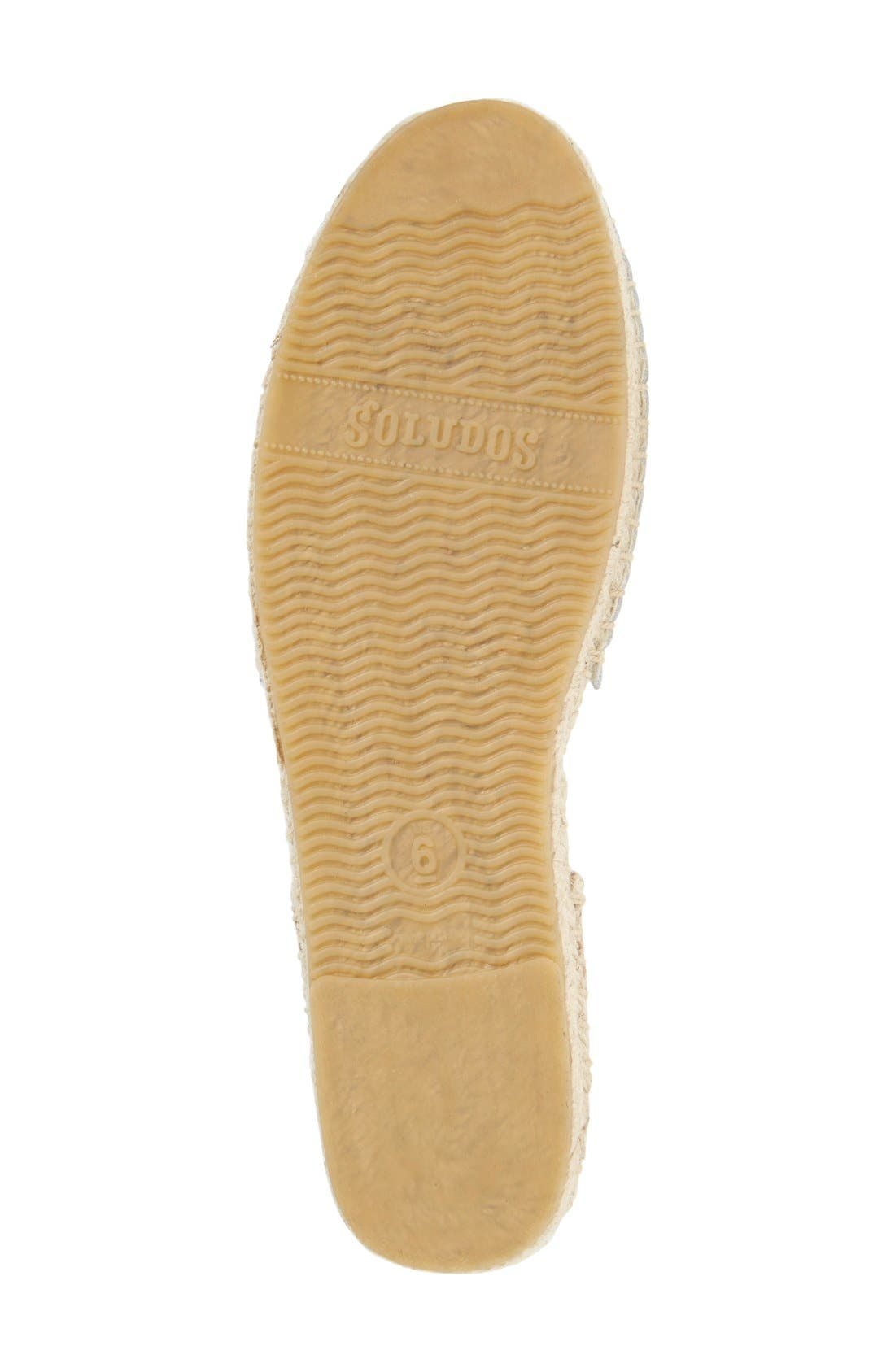 Espadrille Sandal,                             Alternate thumbnail 4, color,                             White