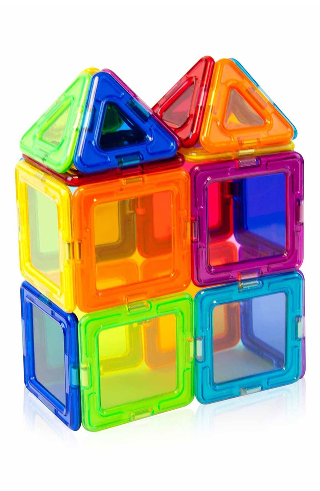 'Standard - Solids' Clear Magnetic 3D Construction Set,                             Alternate thumbnail 3, color,                             Rainbow