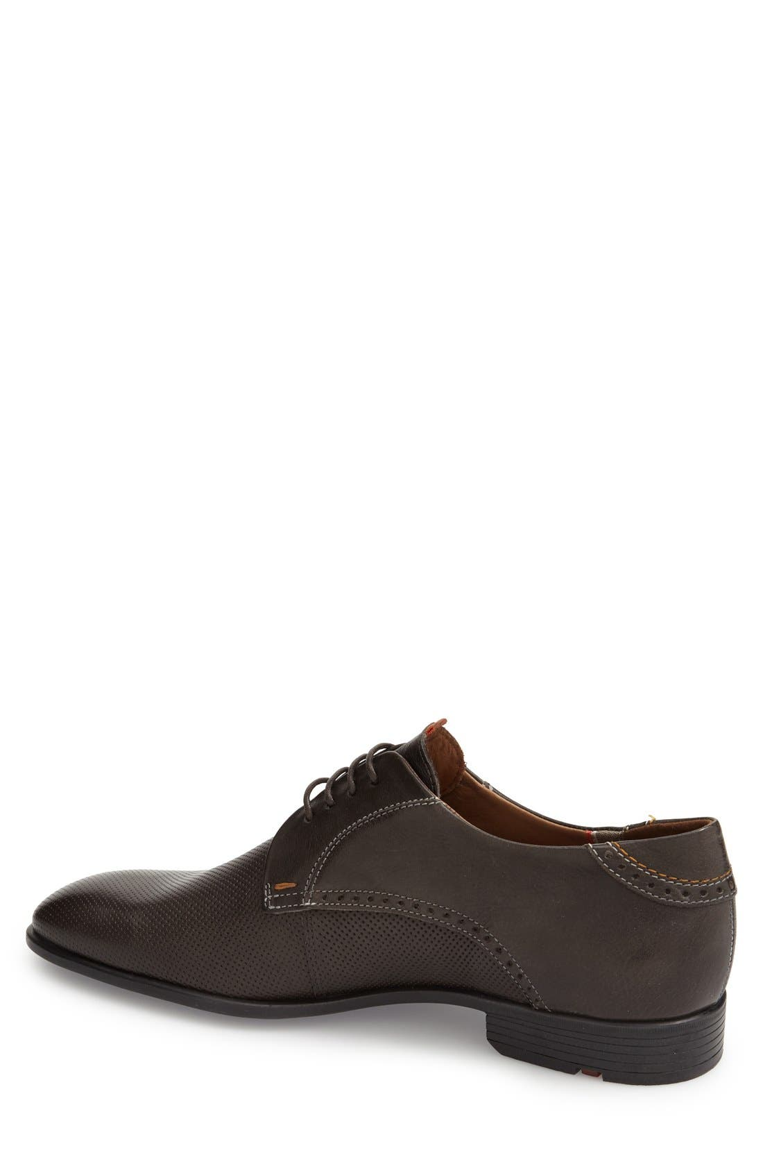 'Dello' Plain Toe Derby,                             Alternate thumbnail 2, color,                             Grey
