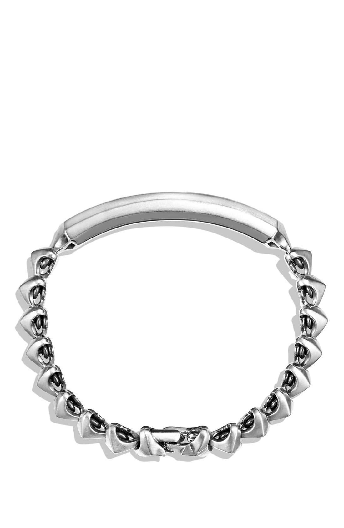 'Armory' Single Row ID Bracelet,                             Alternate thumbnail 2, color,                             Silver