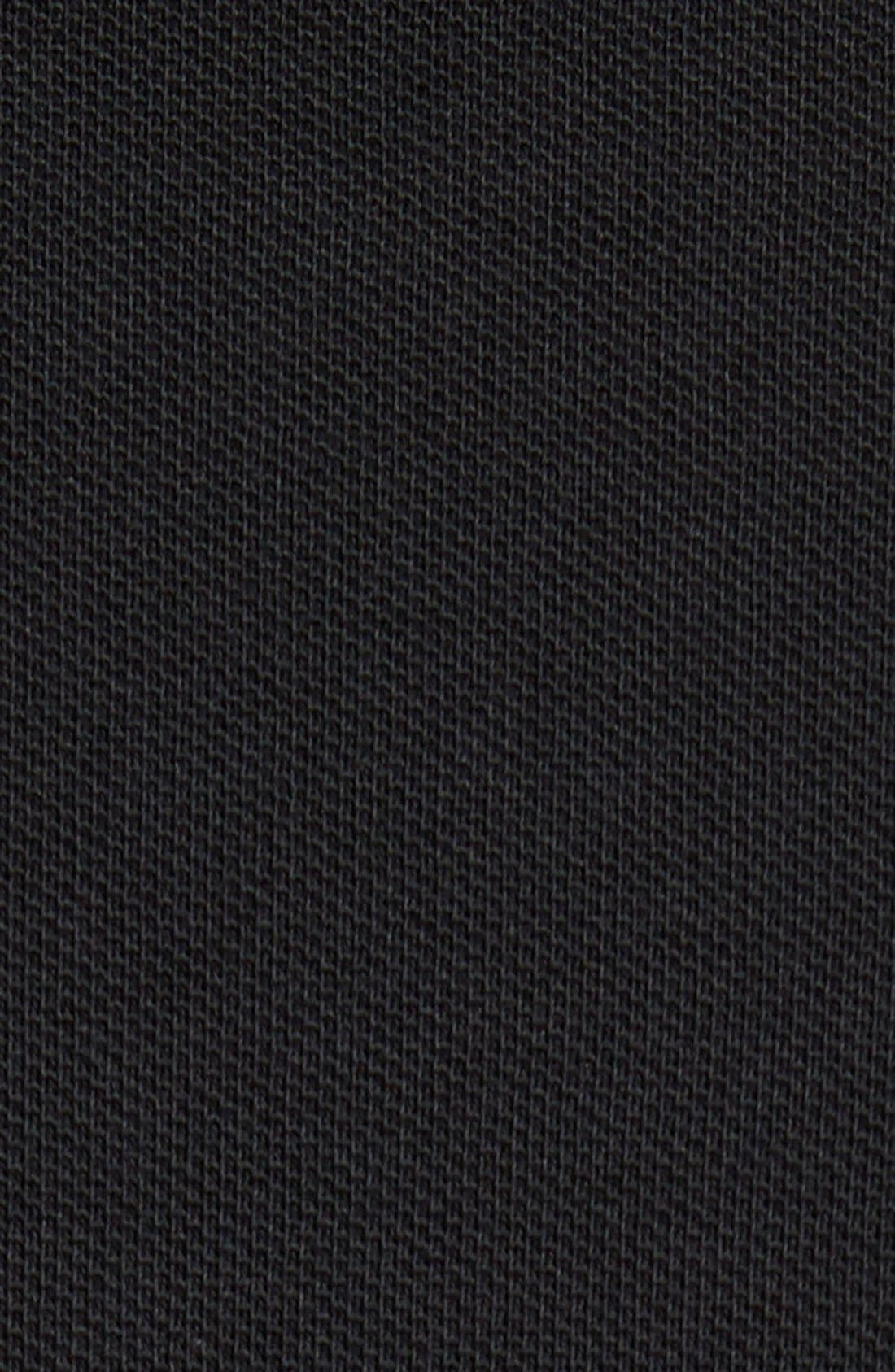 Piqué Polo,                             Alternate thumbnail 5, color,                             Black