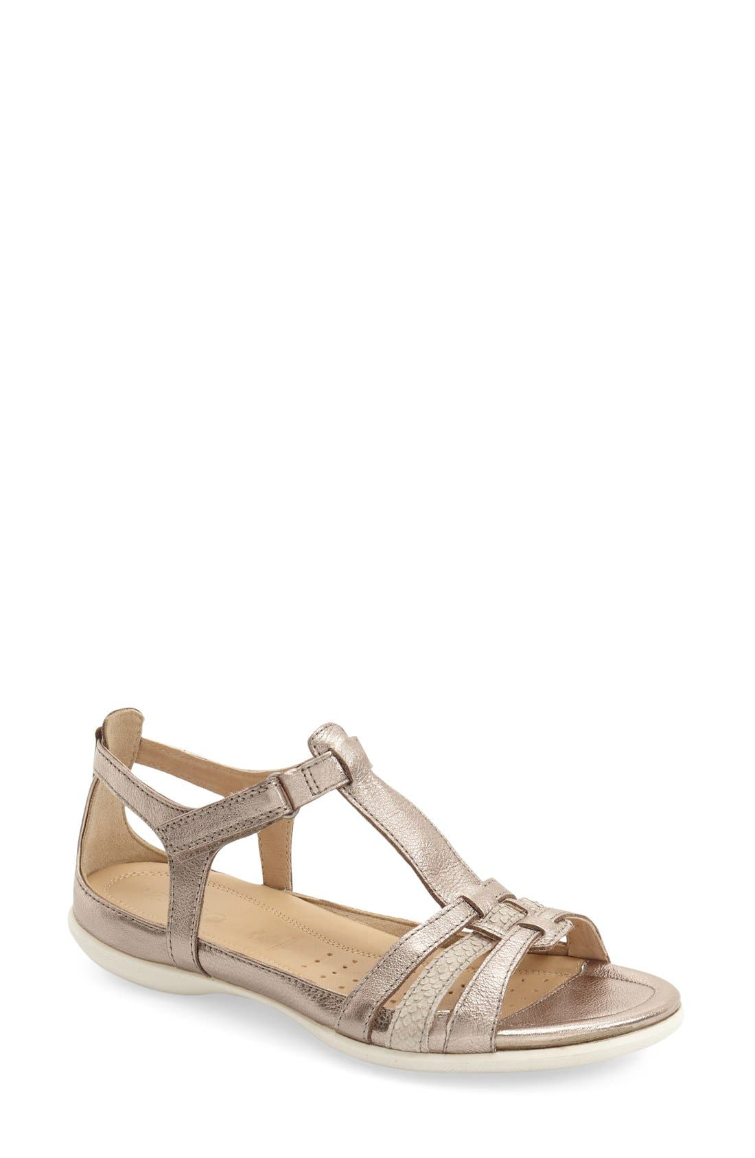 'Flash' Sandal,                         Main,                         color, Warm Grey/ Metallic Leather