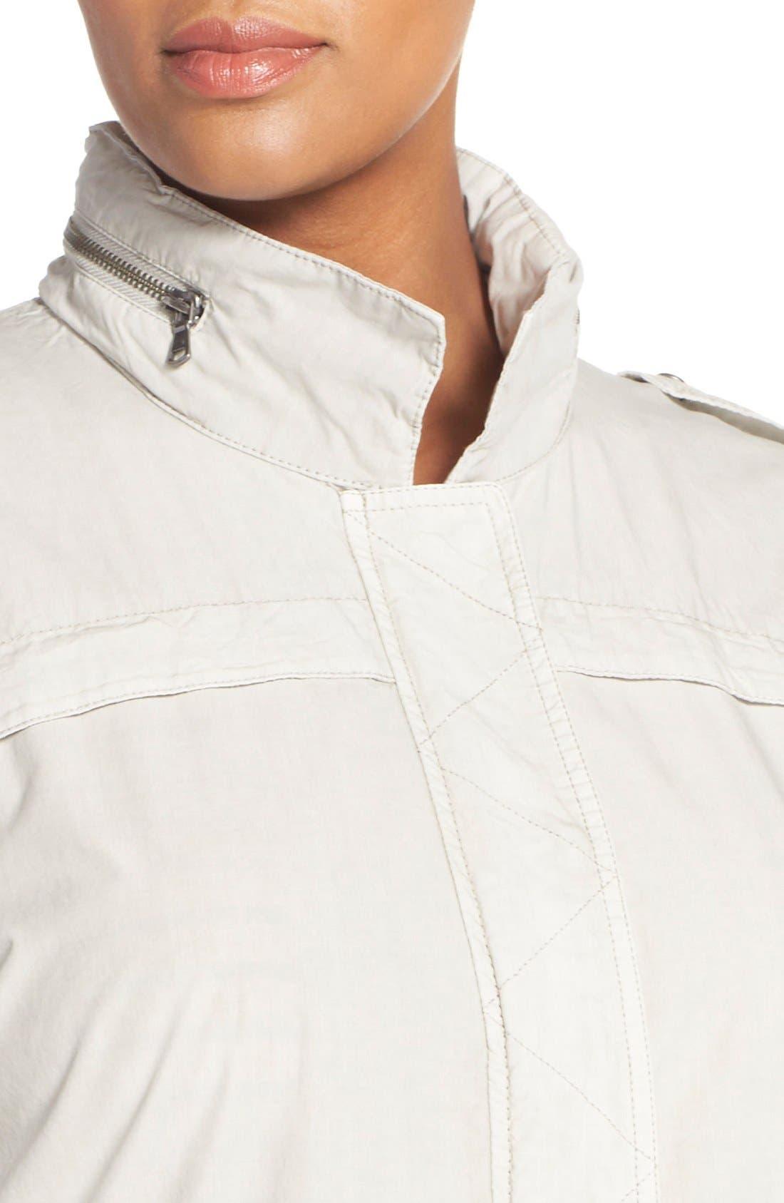 Parachute Hooded Cotton Utility Jacket,                             Alternate thumbnail 4, color,                             Moonbeam