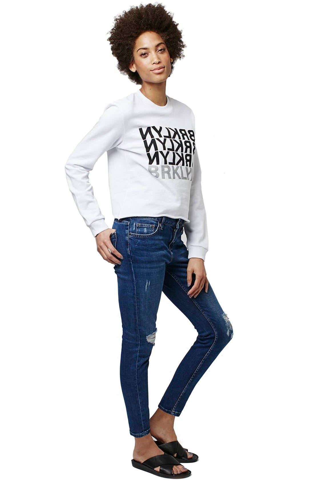 Alternate Image 2  - Topshop 'Brklyn' Graphic Sweatshirt