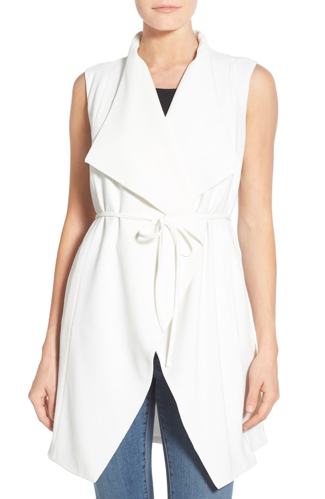 Alternate Image 1 Selected - Catherine Catherine Malandrino 'Quindon' Longline Vest