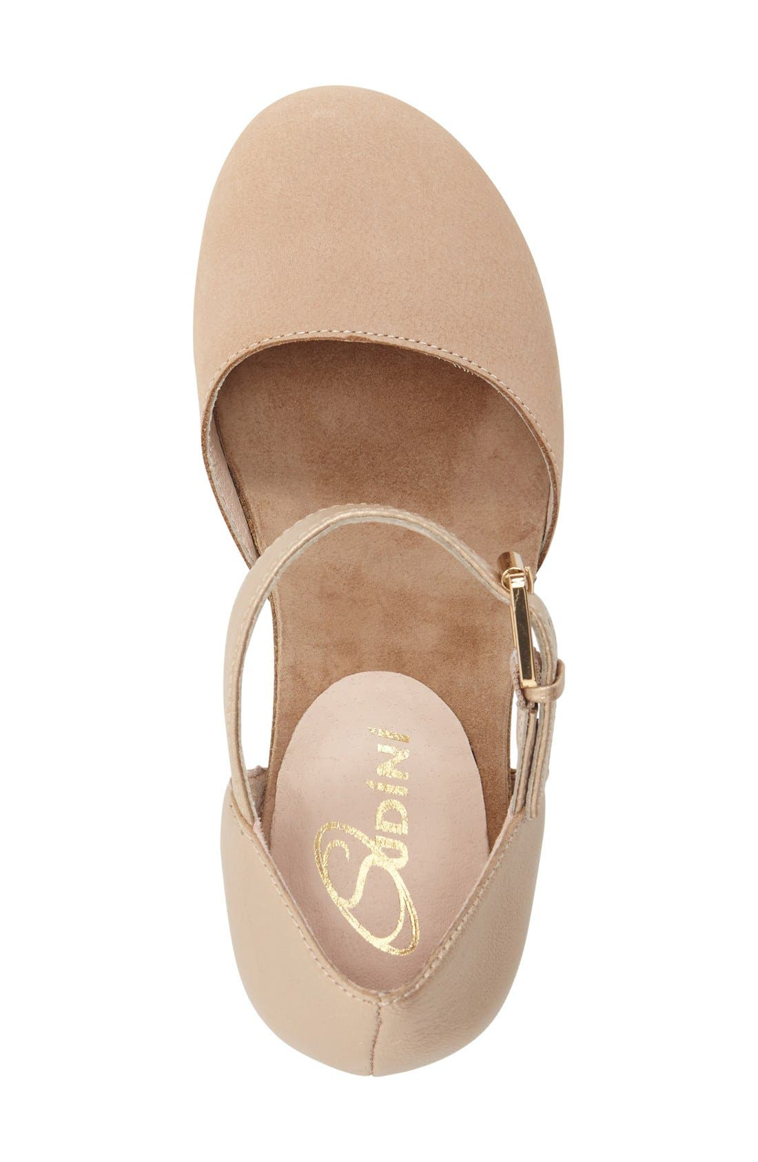 'Cam' Mary Jane Pump,                             Alternate thumbnail 3, color,                             Sand Leather
