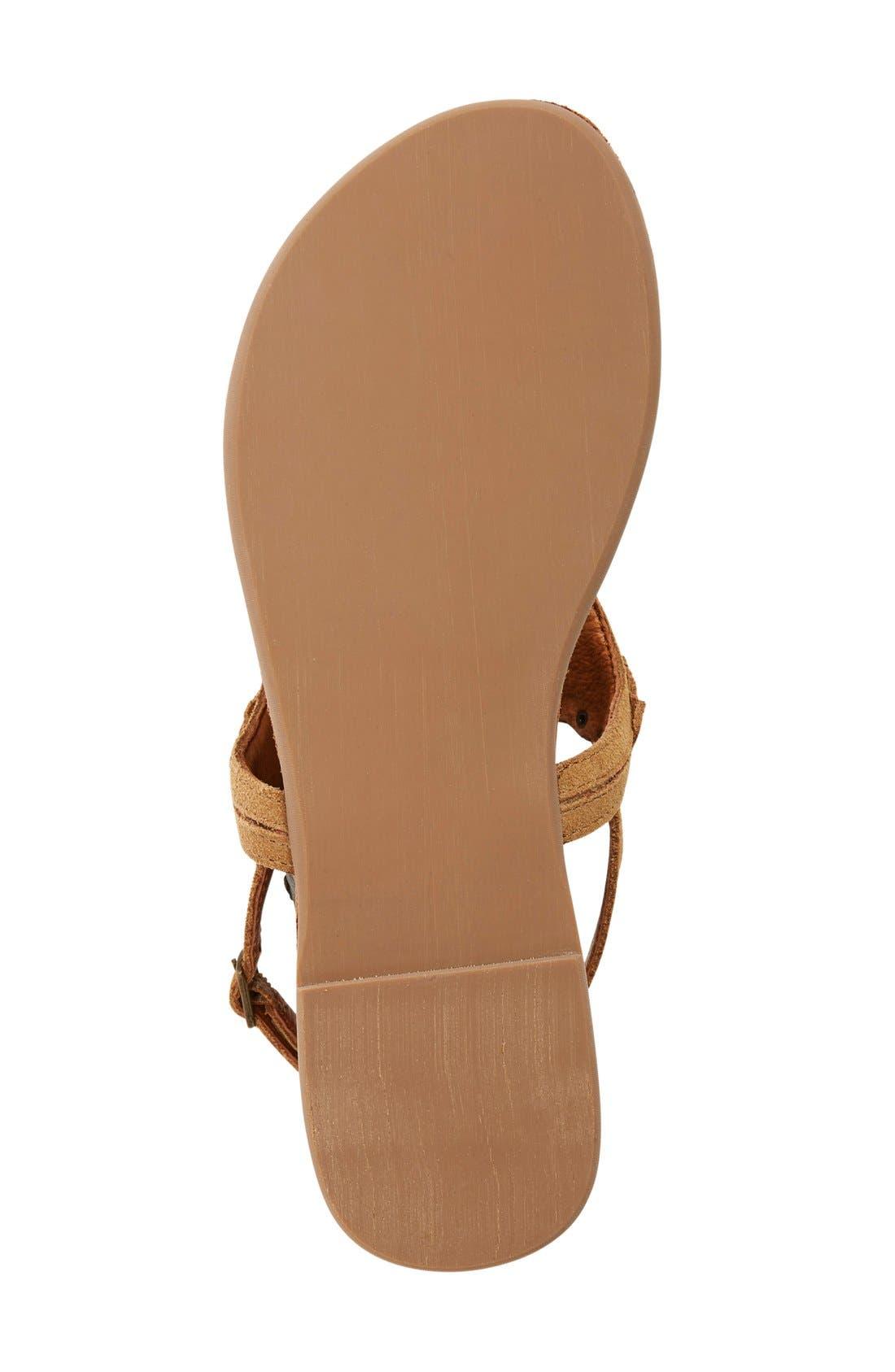 Alternate Image 4  - ZiGi girl 'Farza' Embellished Fringe Flat Sandal (Women)
