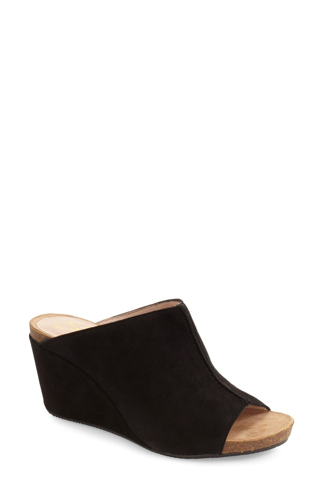 Alternate Image 1 Selected - Sudini 'Bailey' Suede Wedge (Women)