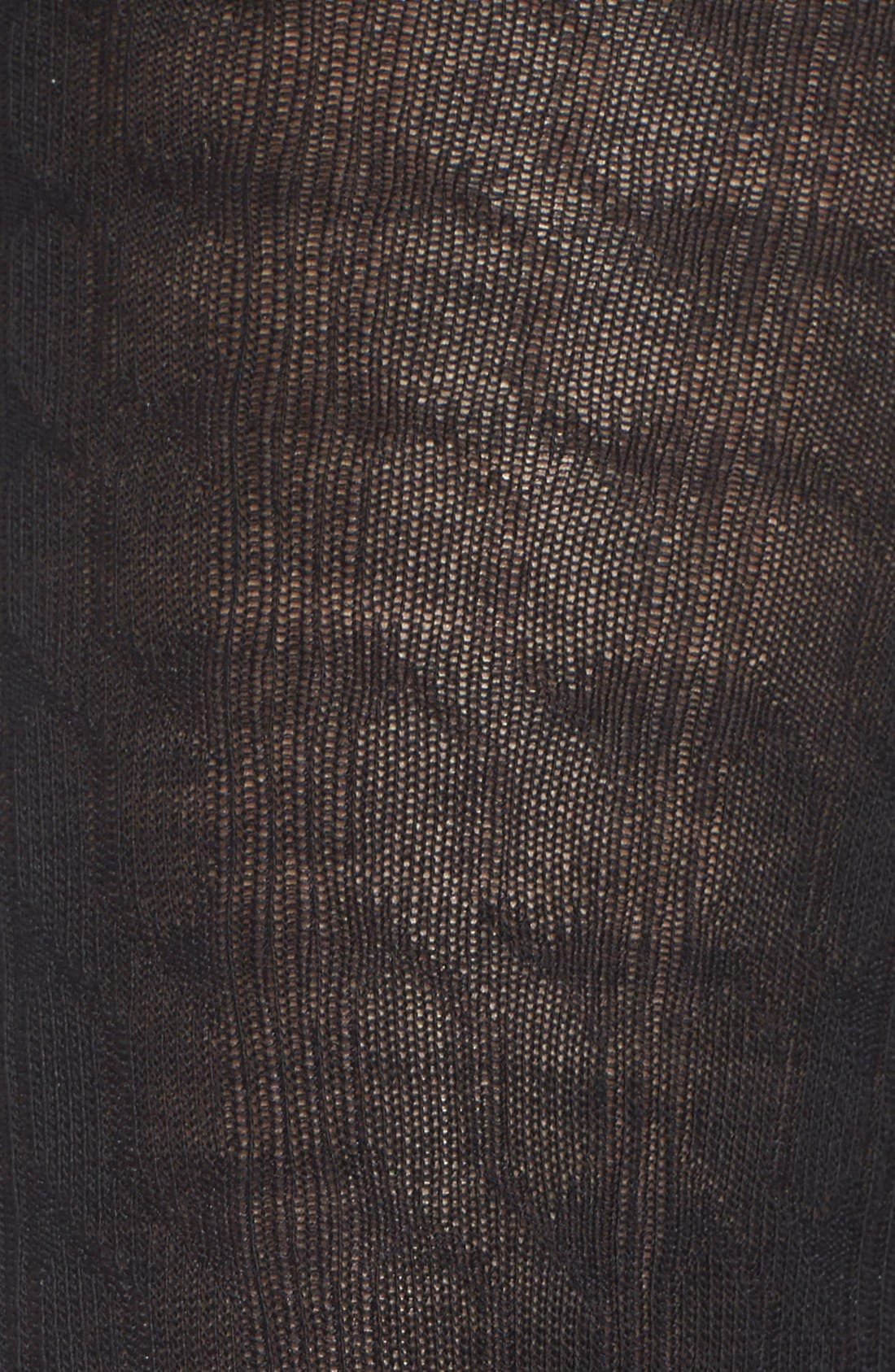 Cable Knit Tights,                             Alternate thumbnail 2, color,                             Black