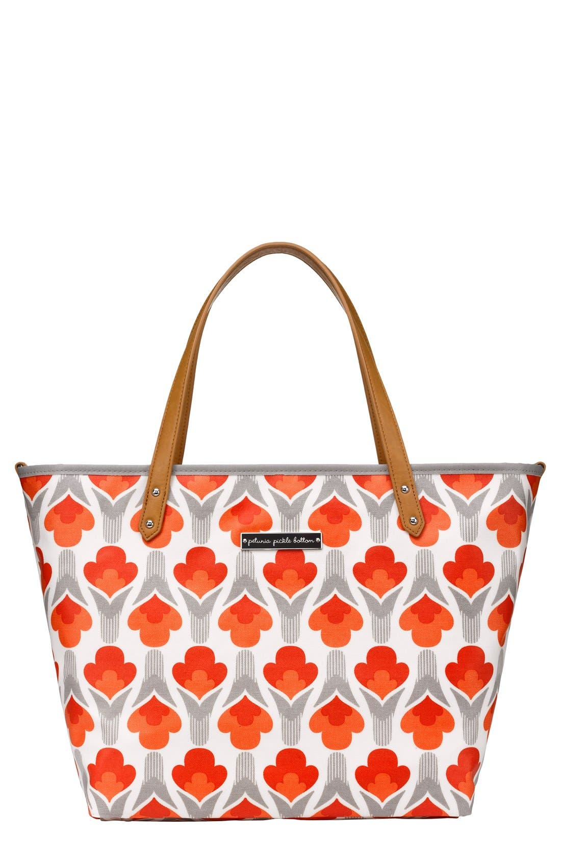 'Downtown' Glazed Canvas Tote,                         Main,                         color, Brittany Blooms