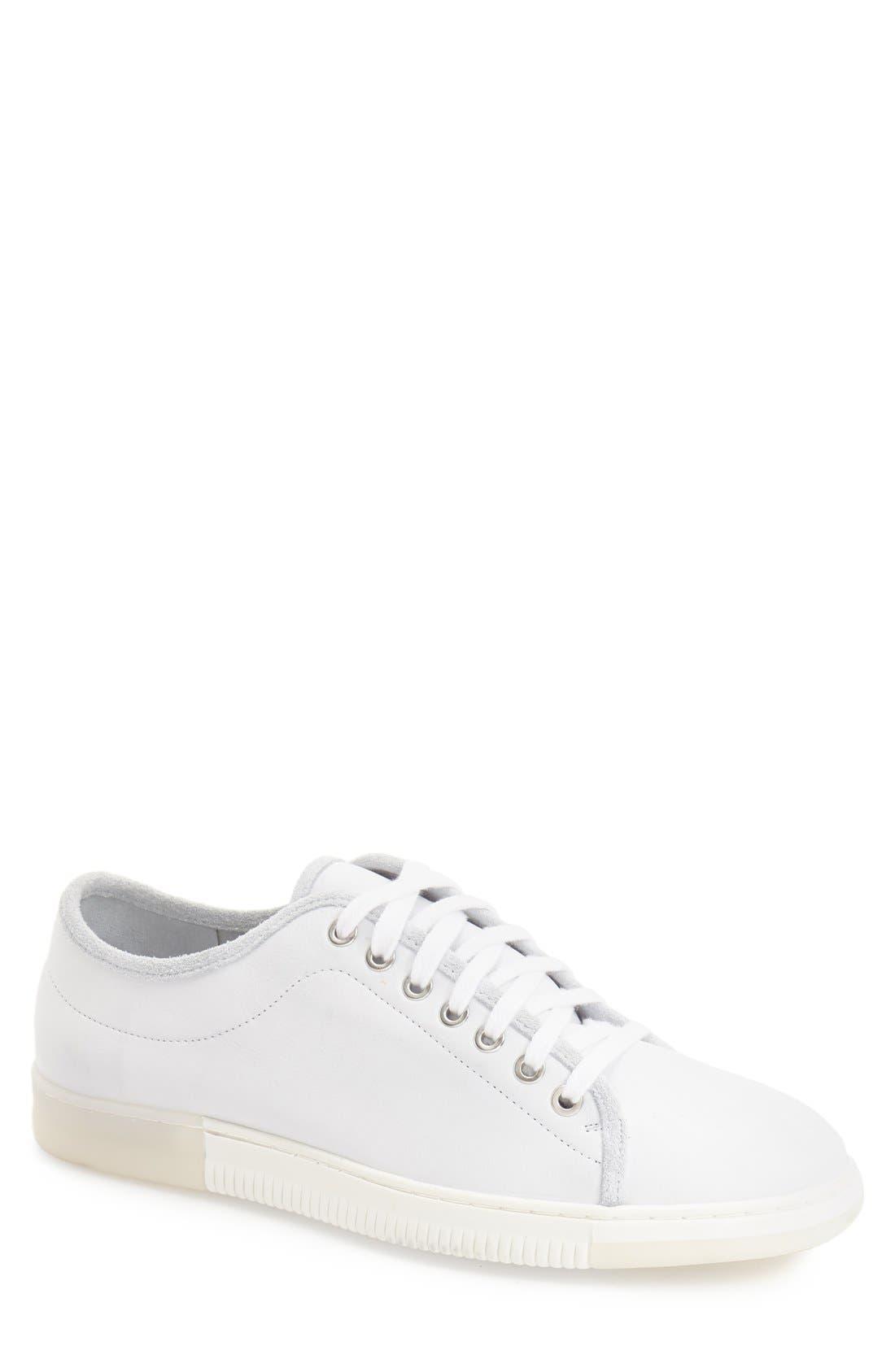 'Justen' Sneaker,                             Main thumbnail 1, color,                             White