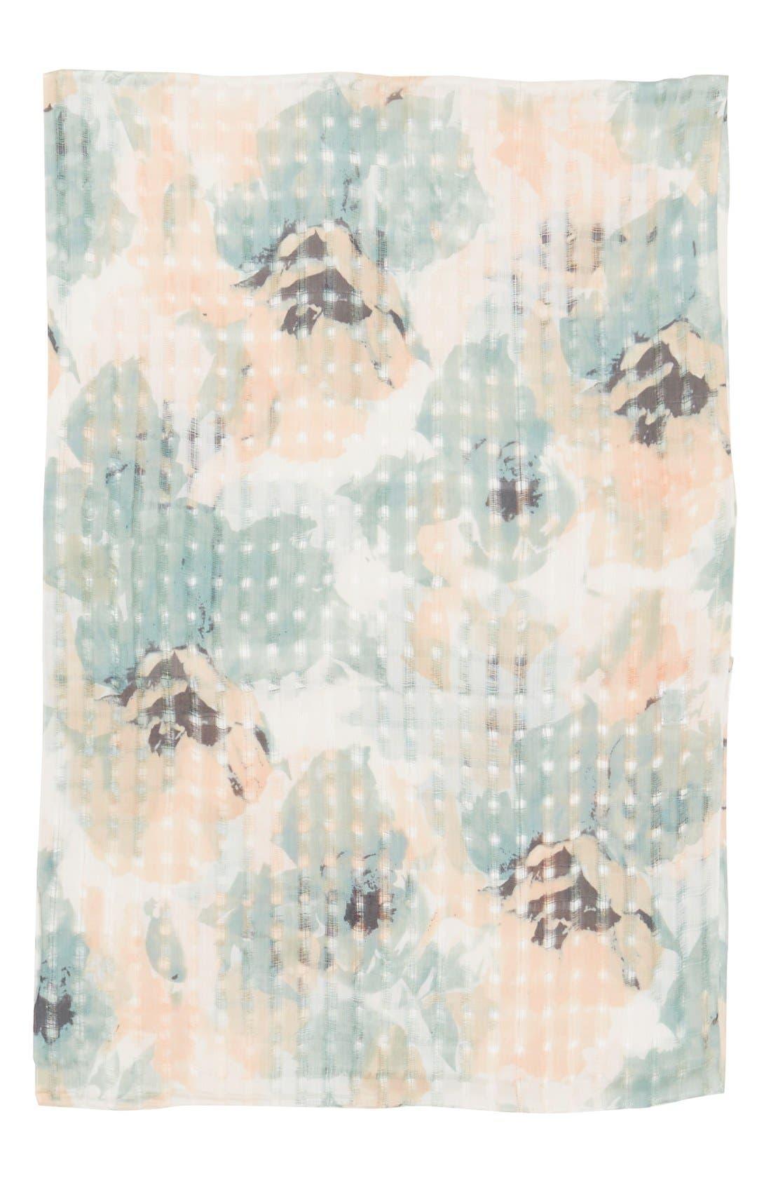 Alternate Image 2  - BP. Floral Print Open Weave Scarf