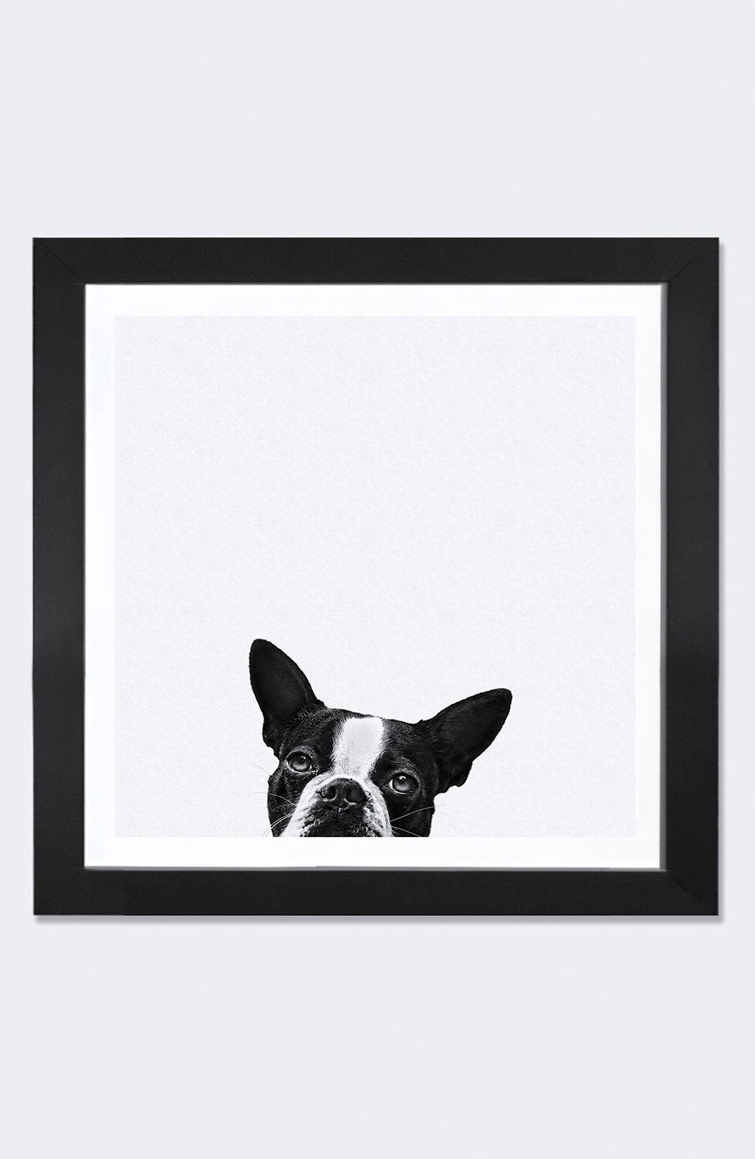 'Loyalty' Framed Fine Art Print,                             Main thumbnail 1, color,                             Black