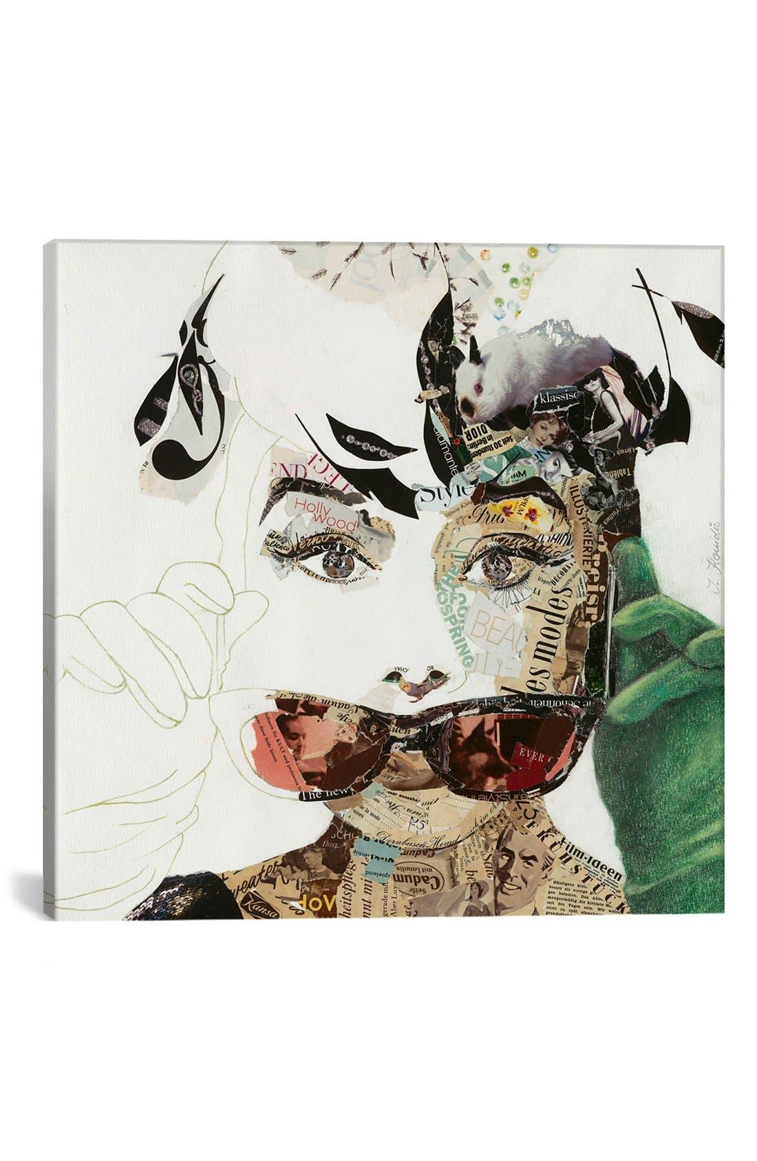 'Audrey' Giclée Print Canvas Art,                         Main,                         color, Grey