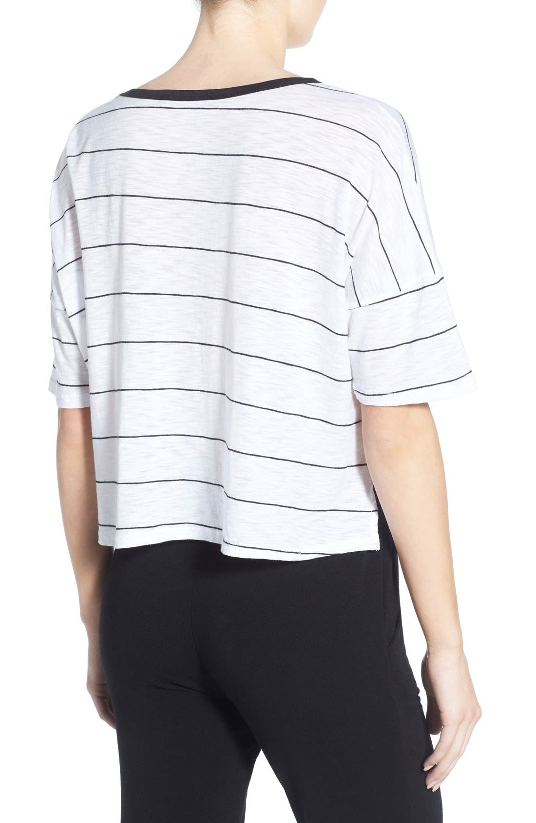 Alternate Image 2  - Michelle by Comune Stripe Crop Tee