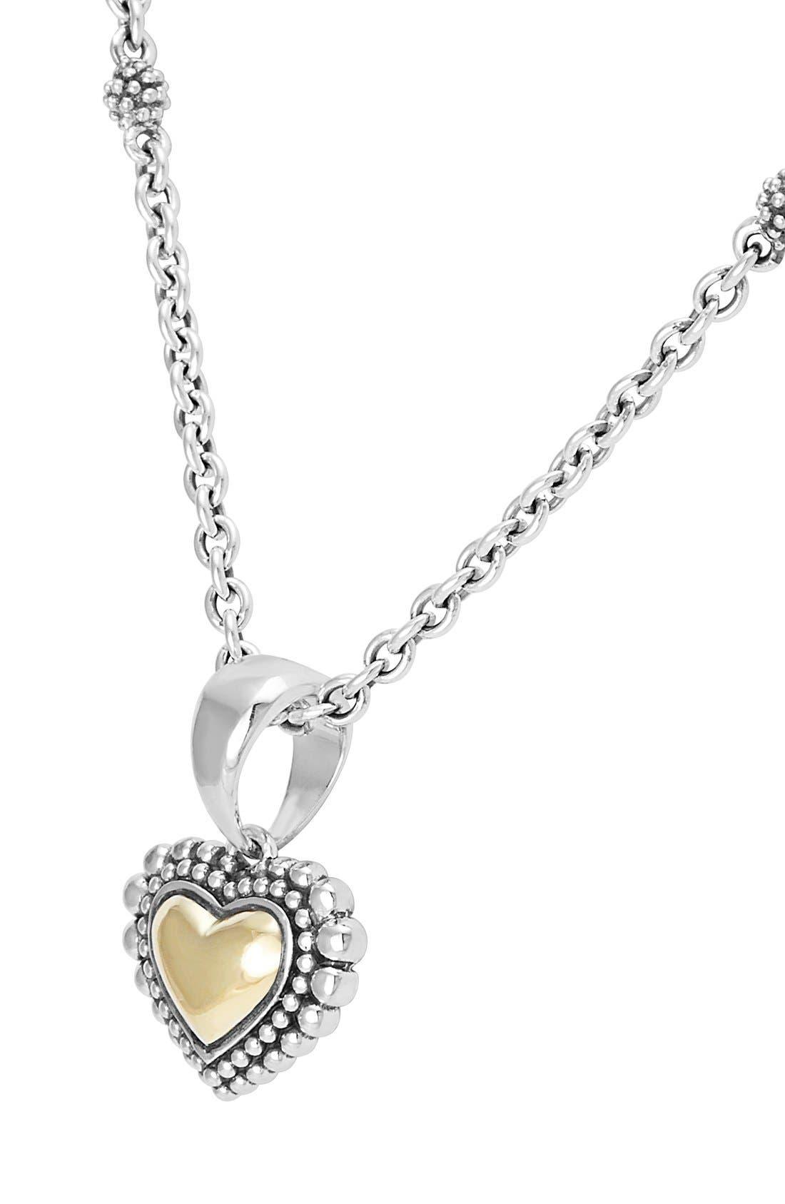 Alternate Image 3  - LAGOS Two-Tone Heart Pendant Necklace