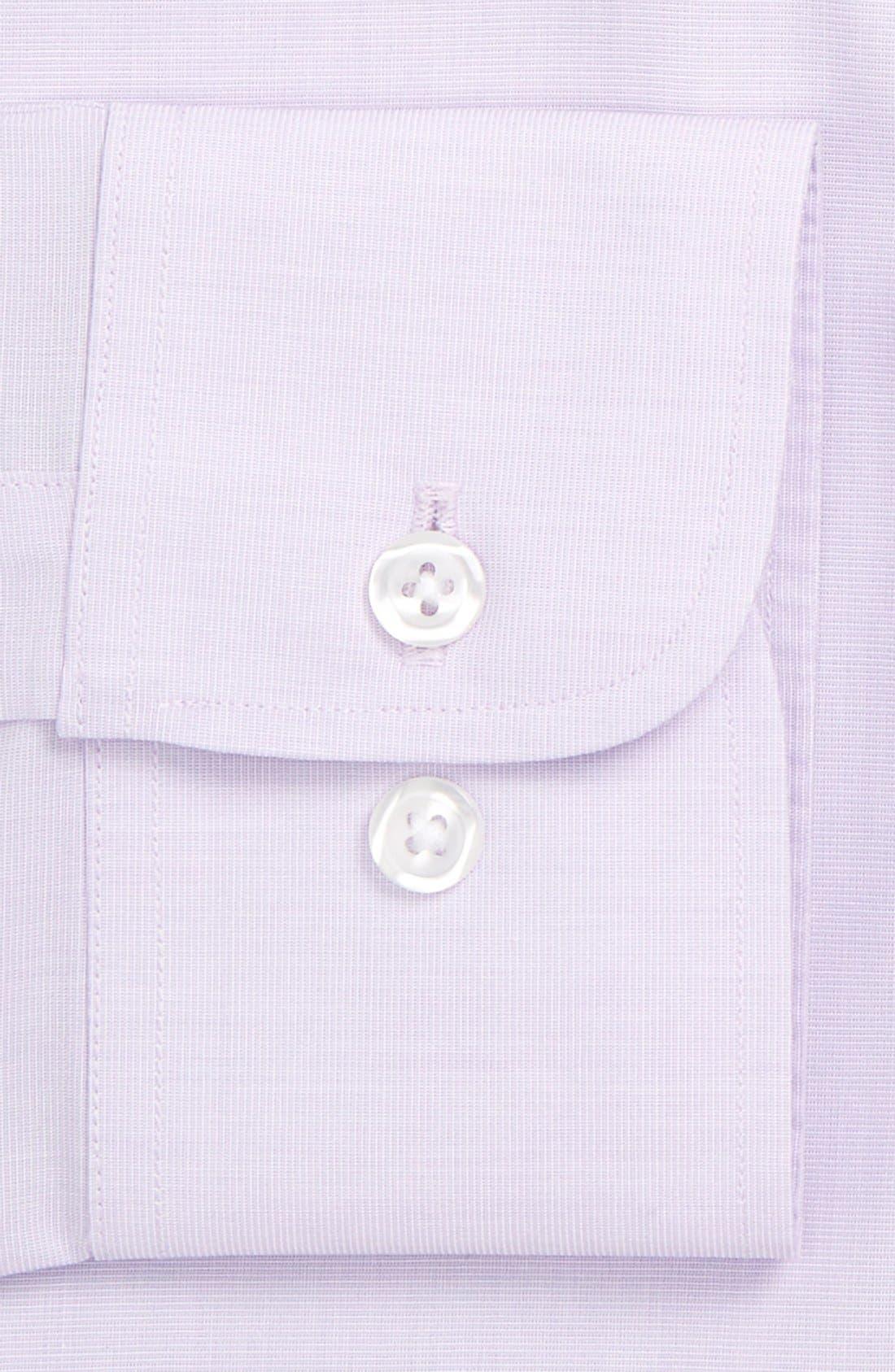 Slim Fit Wrinkle Free Solid Dress Shirt,                             Alternate thumbnail 3, color,                             Pale Lilac