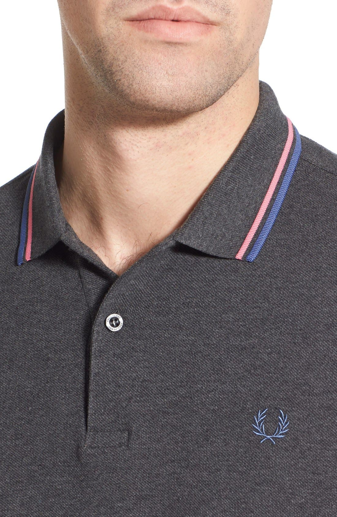 Alternate Image 4  - Fred Perry Extra Trim Fit Twin Tipped Piqué Polo