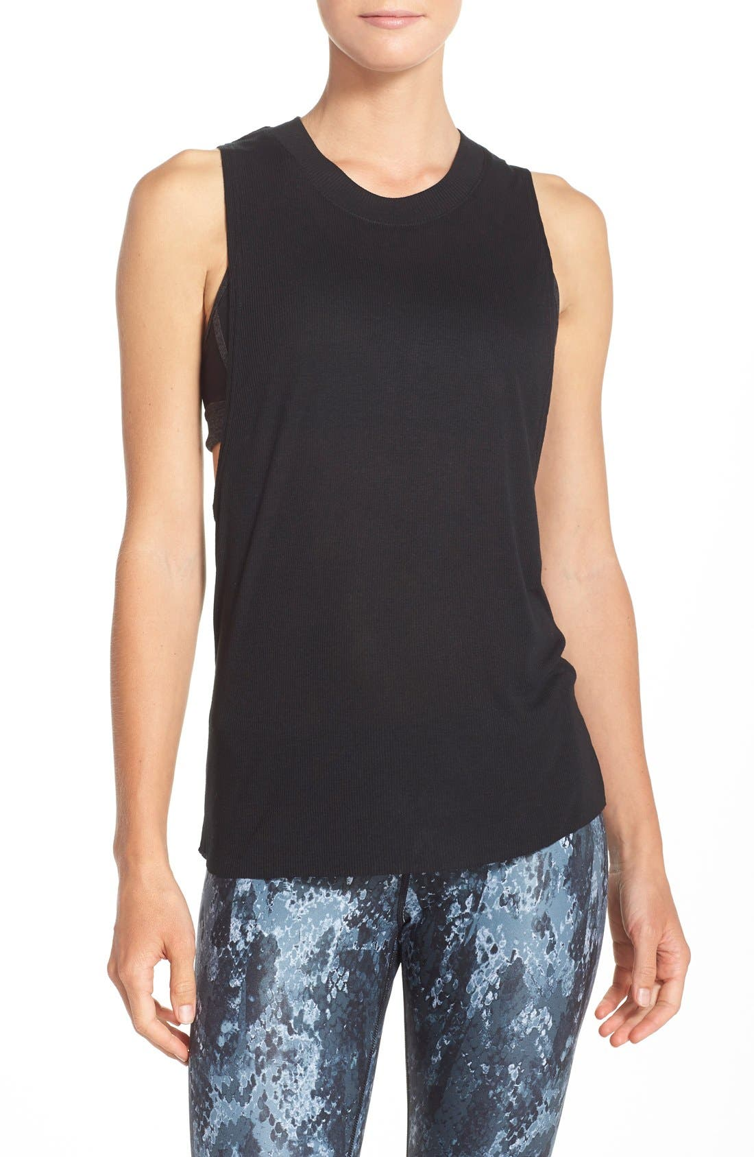 Main Image - Alo Heat Wave Ribbed Muscle Tee
