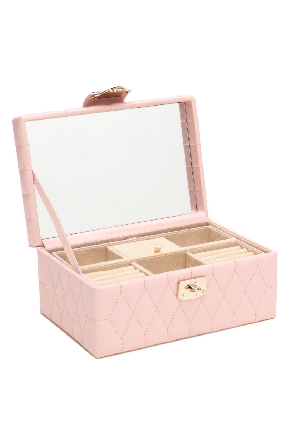 'Caroline' Jewelry Case,                             Alternate thumbnail 4, color,                             Rose Quartz