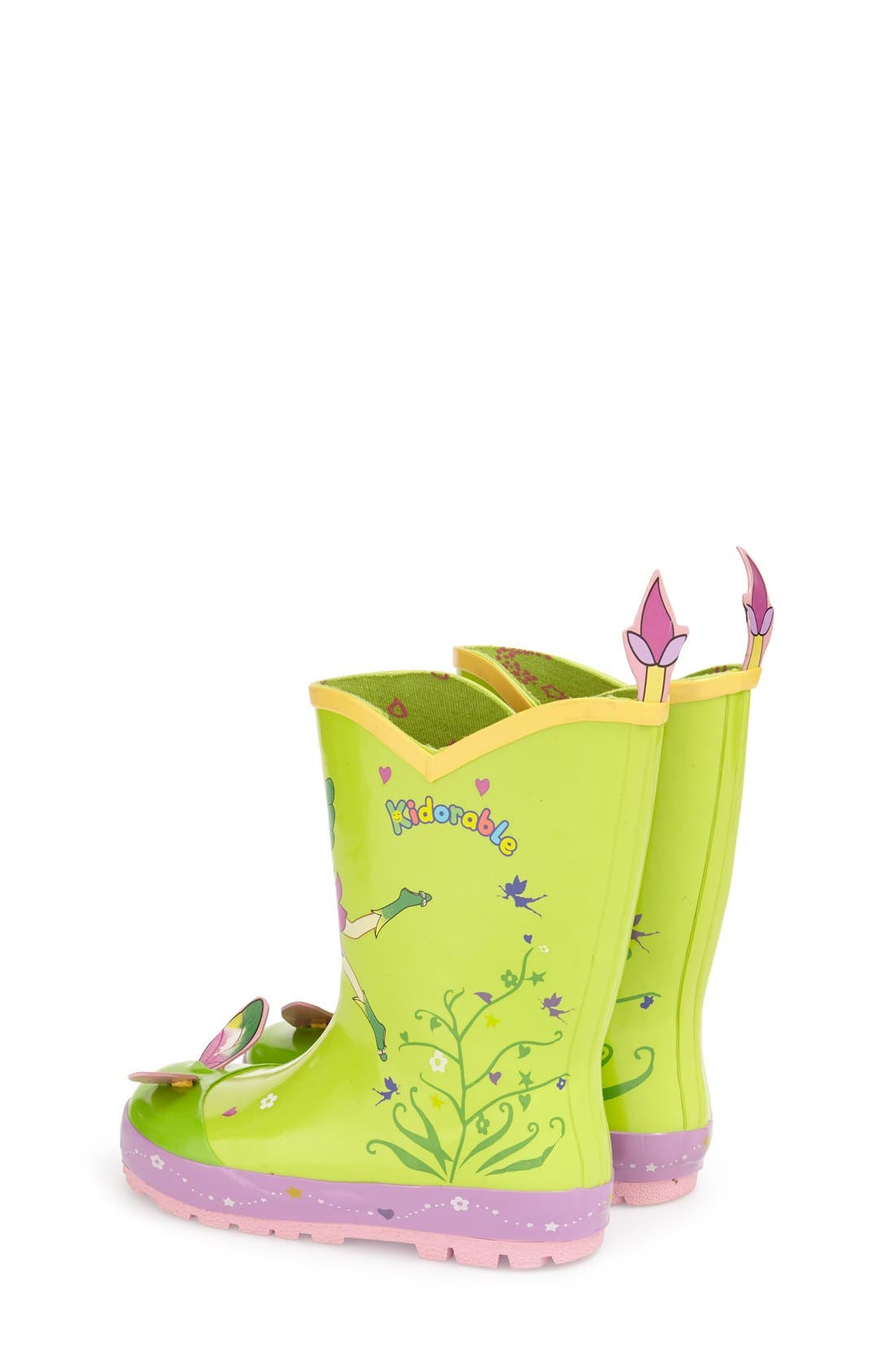 Alternate Image 2  - Kidorable 'Fairy' Waterproof Rain Boot (Walker, Toddler & Little Kid)