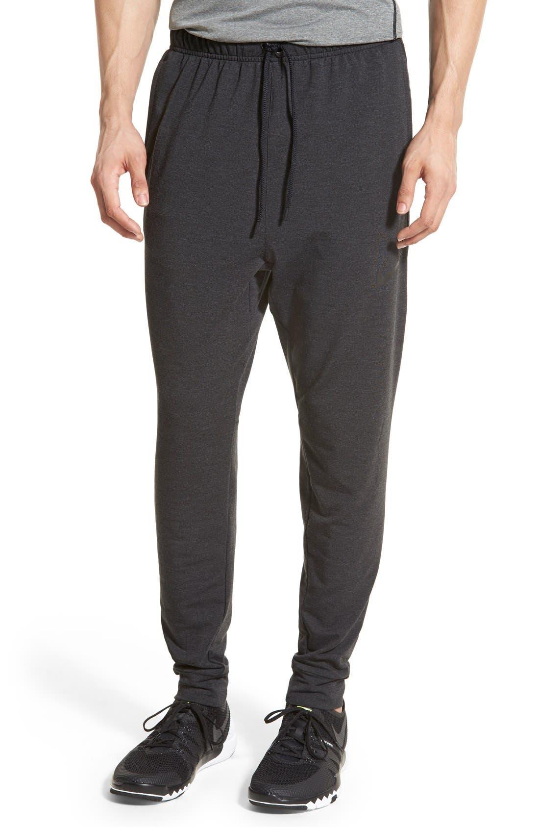 Dri-FIT Fleece Training Pants,                         Main,                         color, Black/ Black