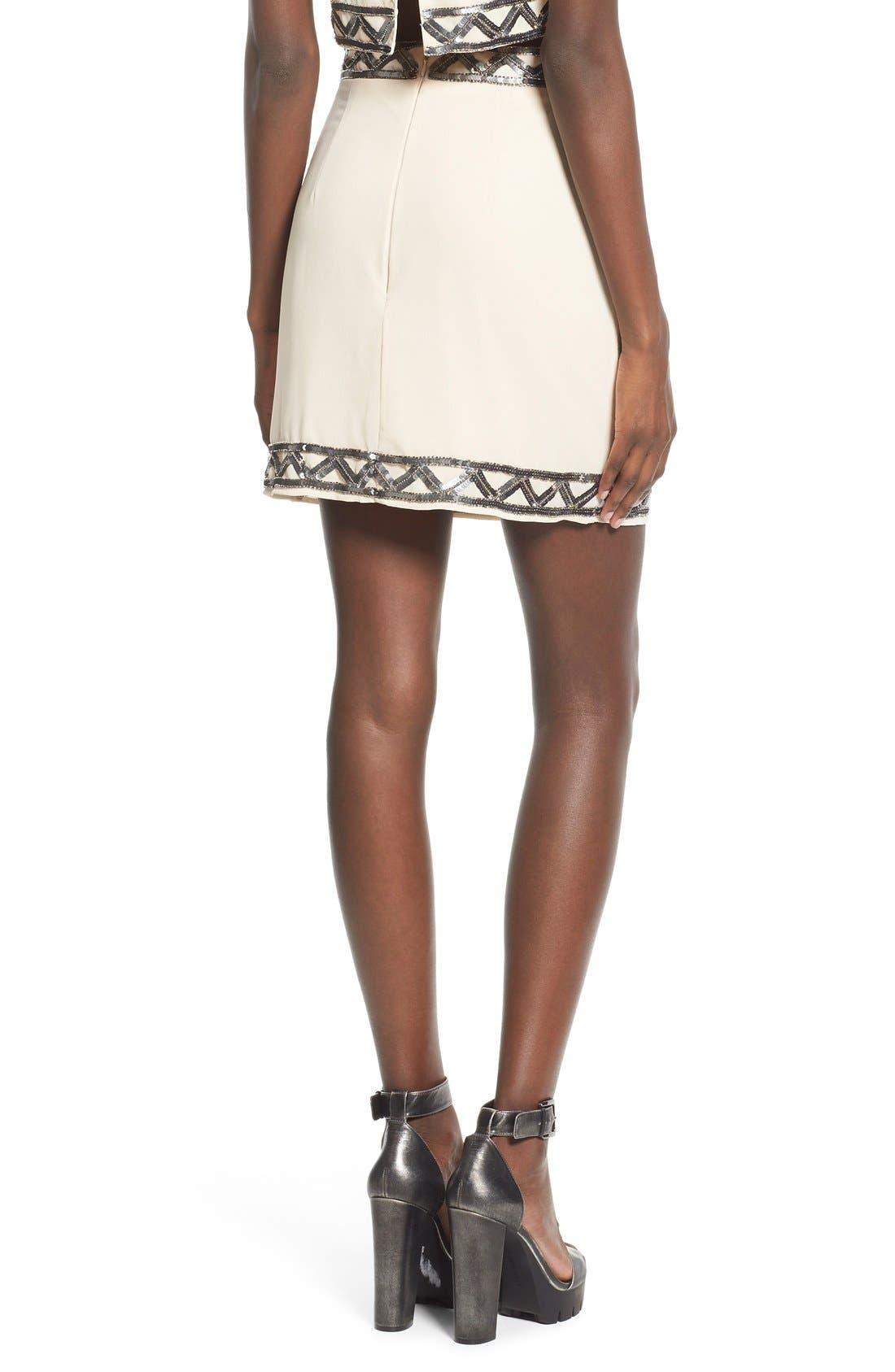 Alternate Image 2  - Missguided Embellished Miniskirt