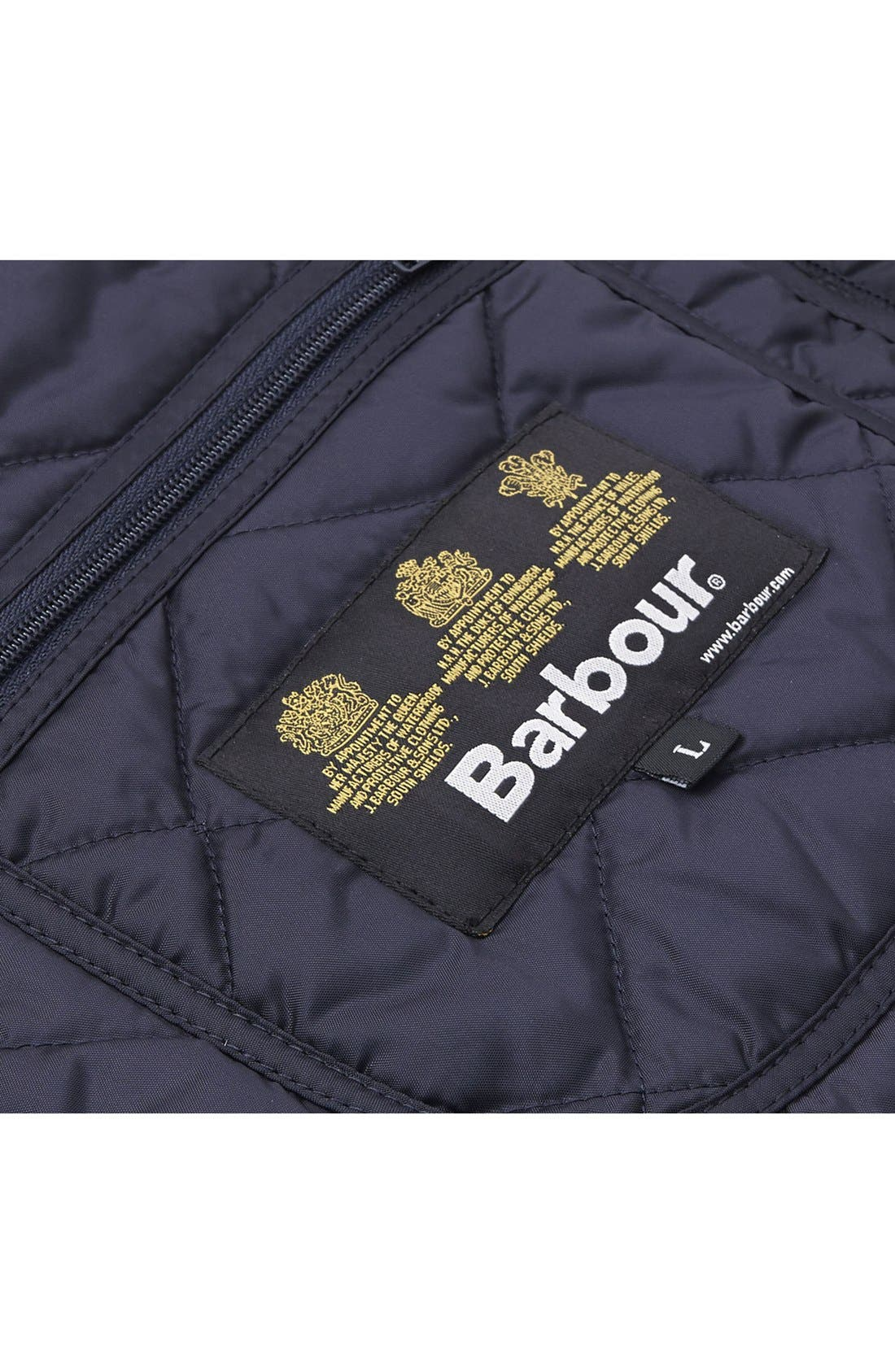 'Tinford' Regular Fit Quilted Jacket,                             Alternate thumbnail 8, color,                             Navy